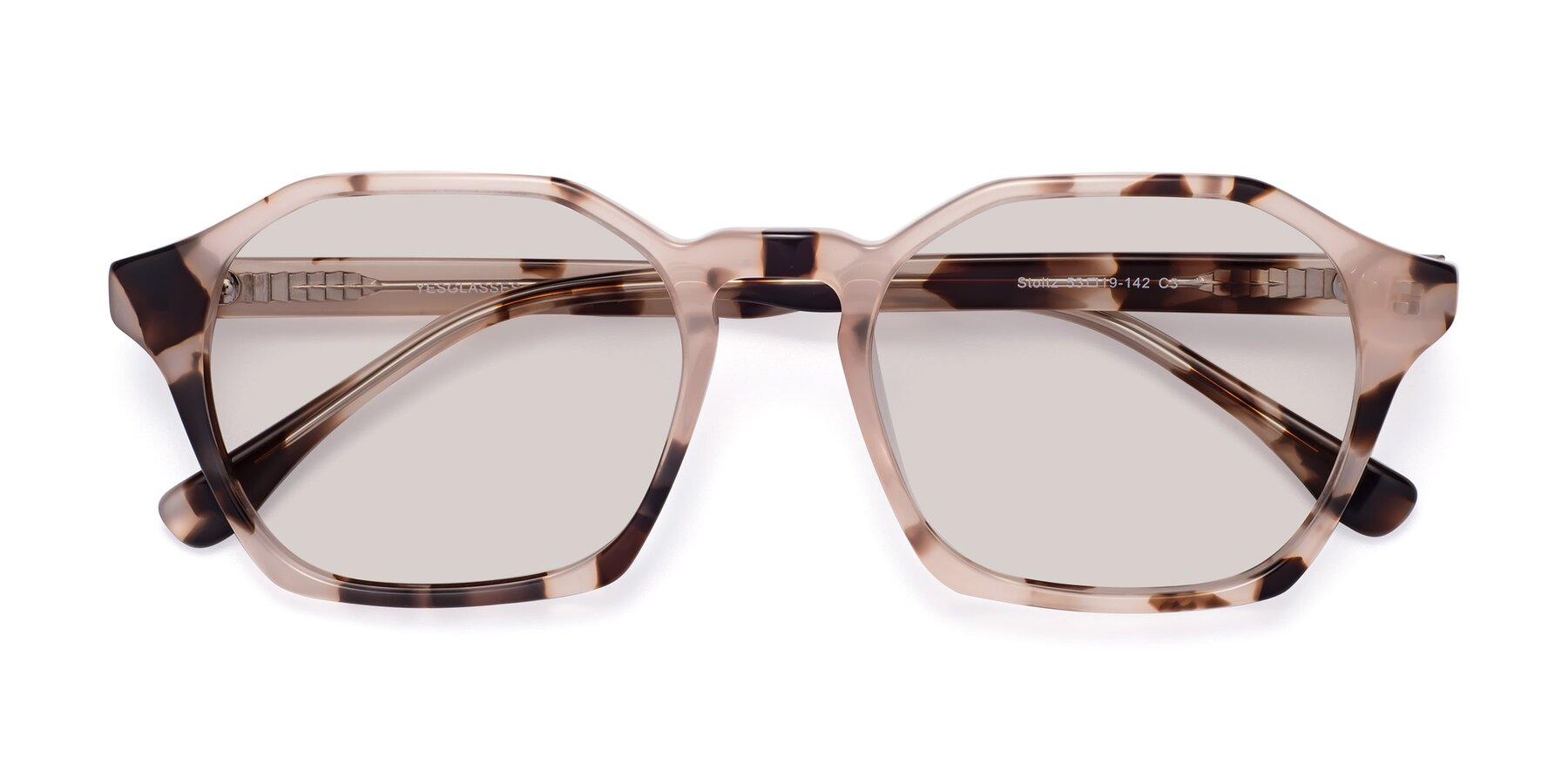 Folded Front of Stoltz in Leopard with Light Brown Tinted Lenses