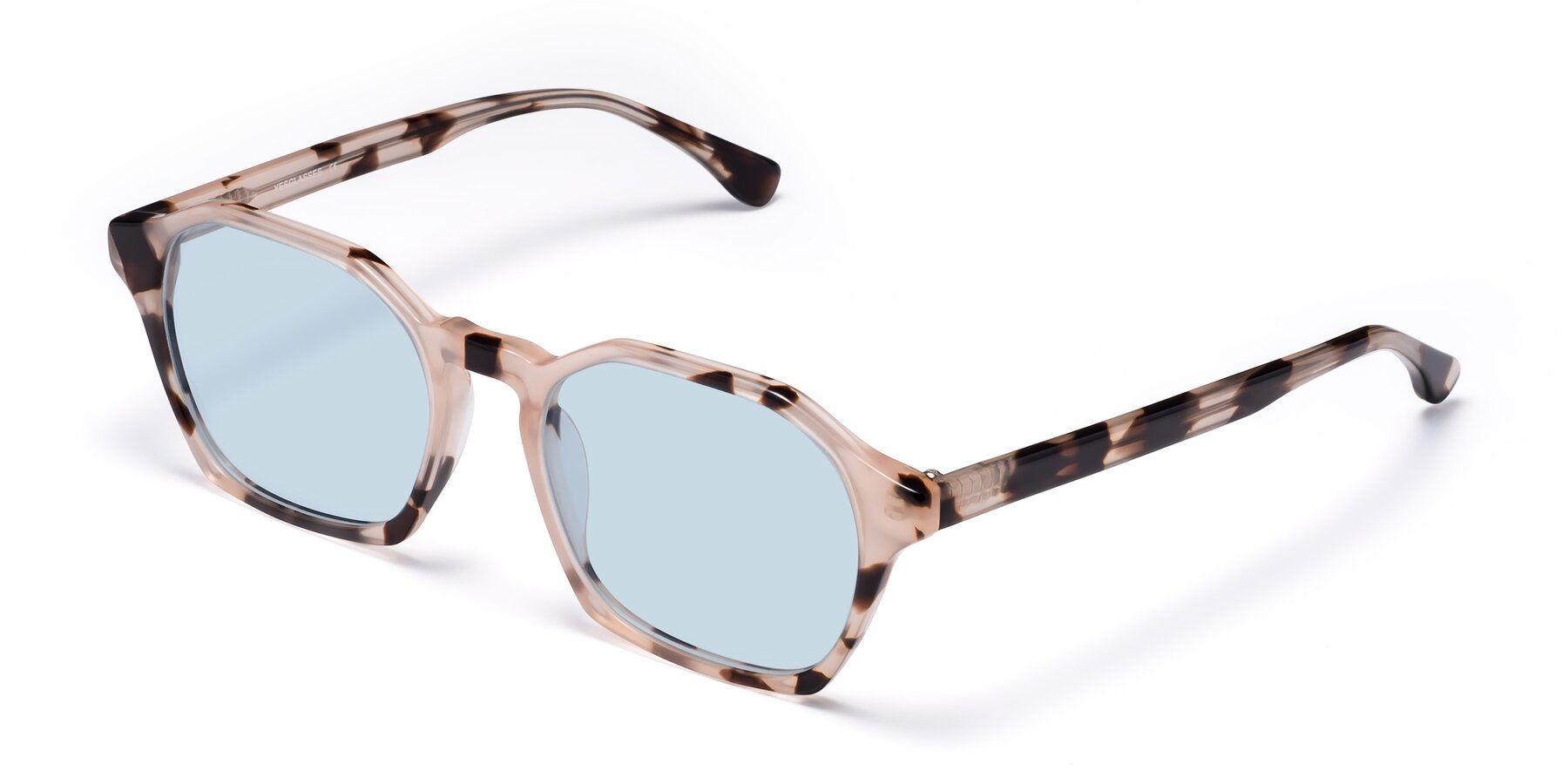 Angle of Stoltz in Leopard with Light Blue Tinted Lenses