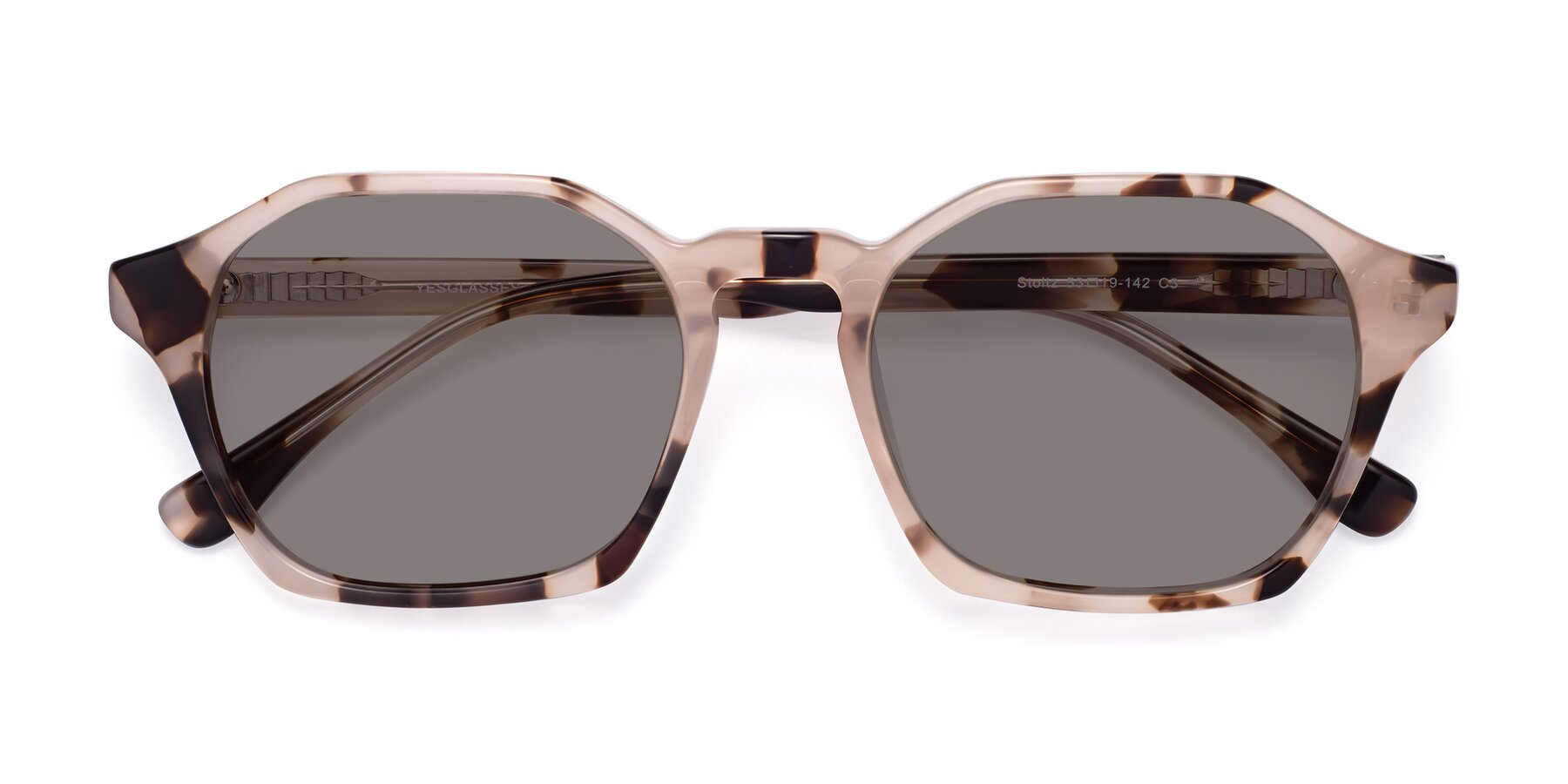 Folded Front of Stoltz in Leopard with Medium Gray Tinted Lenses