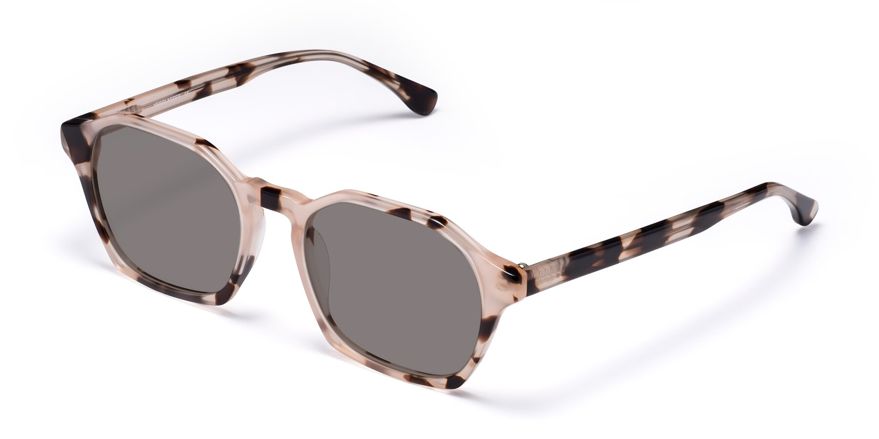 Angle of Stoltz in Leopard with Medium Gray Tinted Lenses