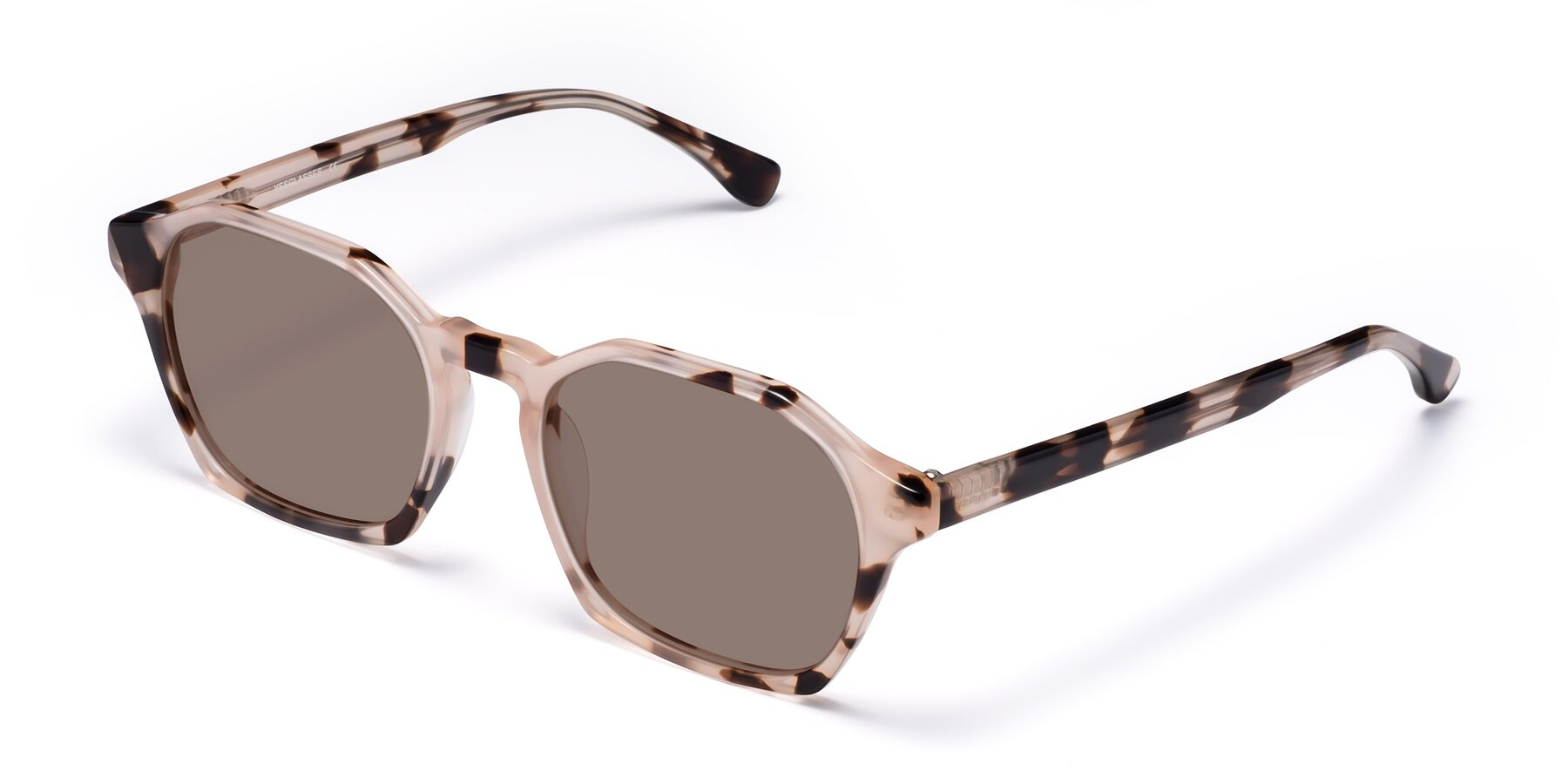 Angle of Stoltz in Leopard with Medium Brown Tinted Lenses