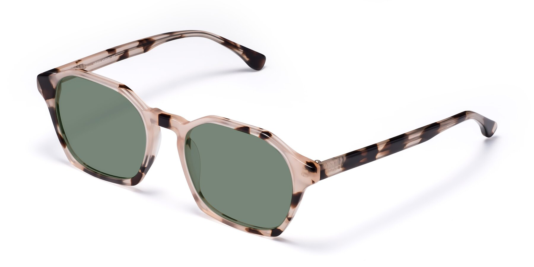 Angle of Stoltz in Leopard with Medium Green Tinted Lenses