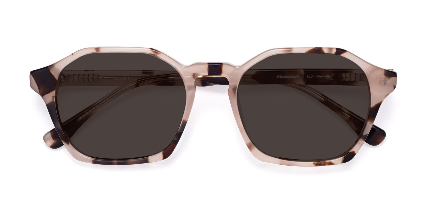 Folded Front of Stoltz in Leopard with Gray Tinted Lenses