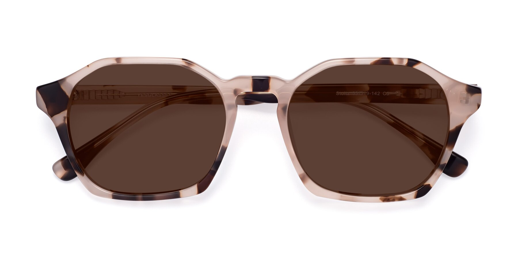 Folded Front of Stoltz in Leopard with Brown Tinted Lenses