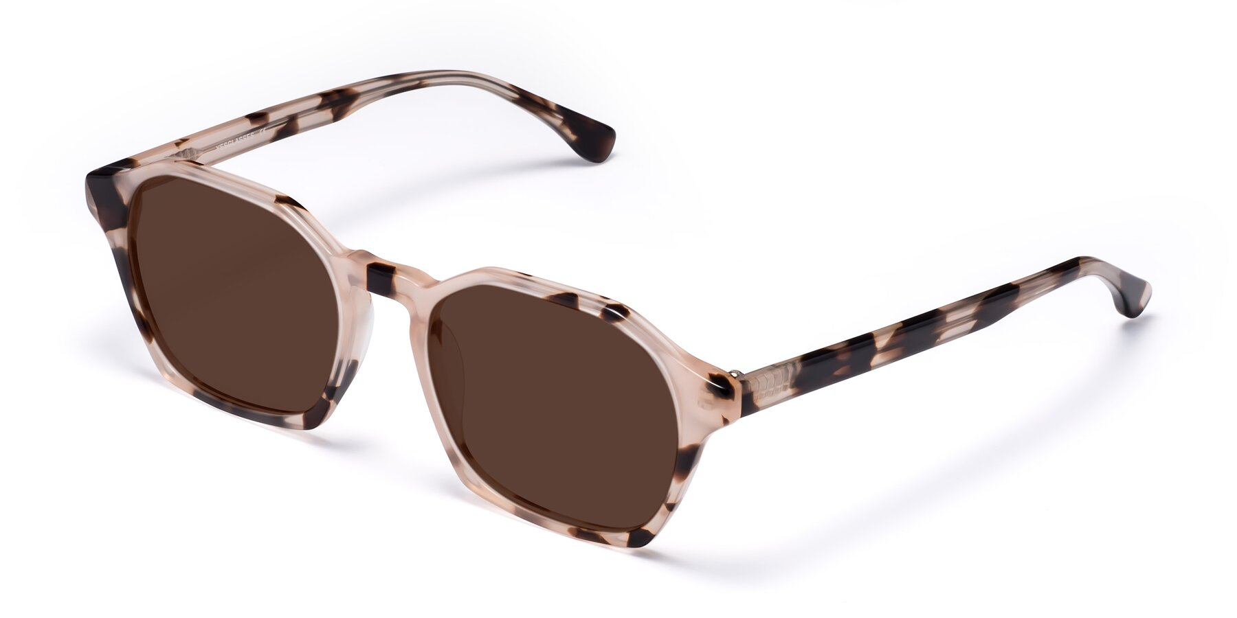 Angle of Stoltz in Leopard with Brown Tinted Lenses