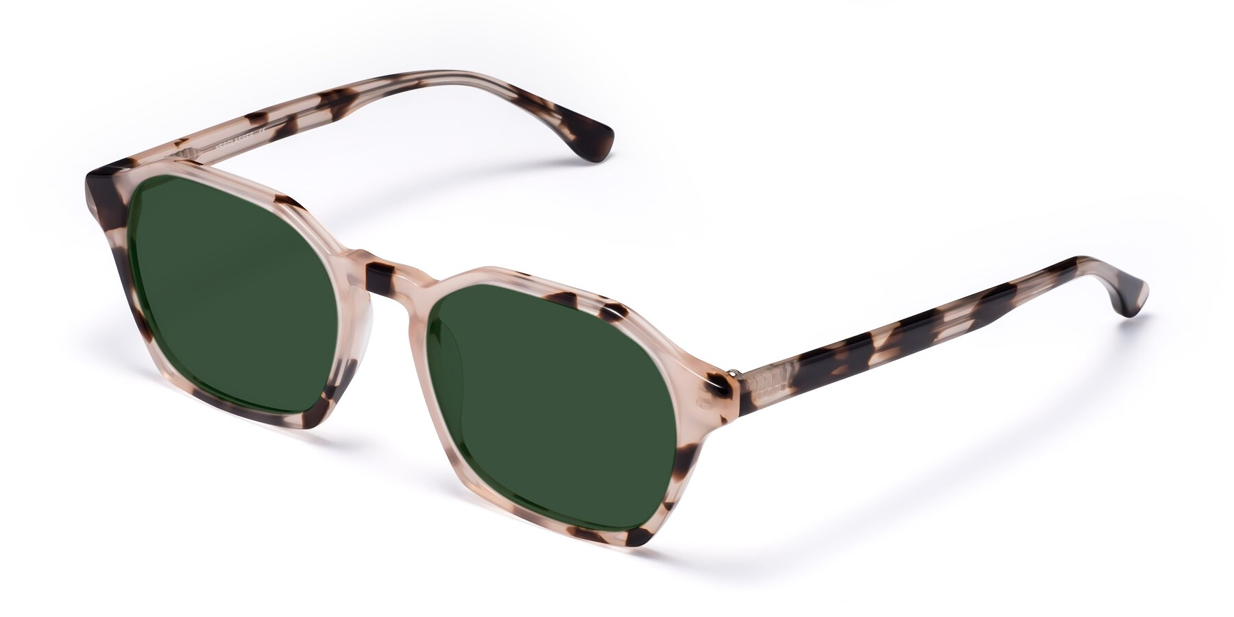 Angle of Stoltz in Leopard with Green Tinted Lenses