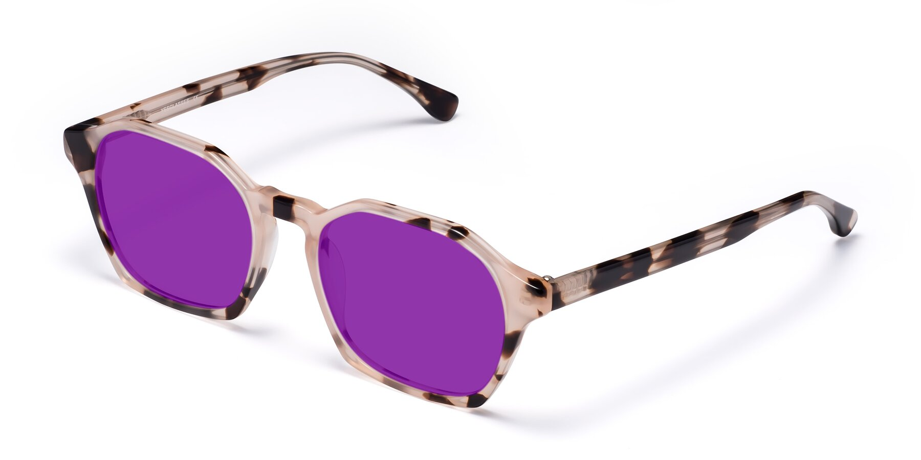 Angle of Stoltz in Leopard with Purple Tinted Lenses