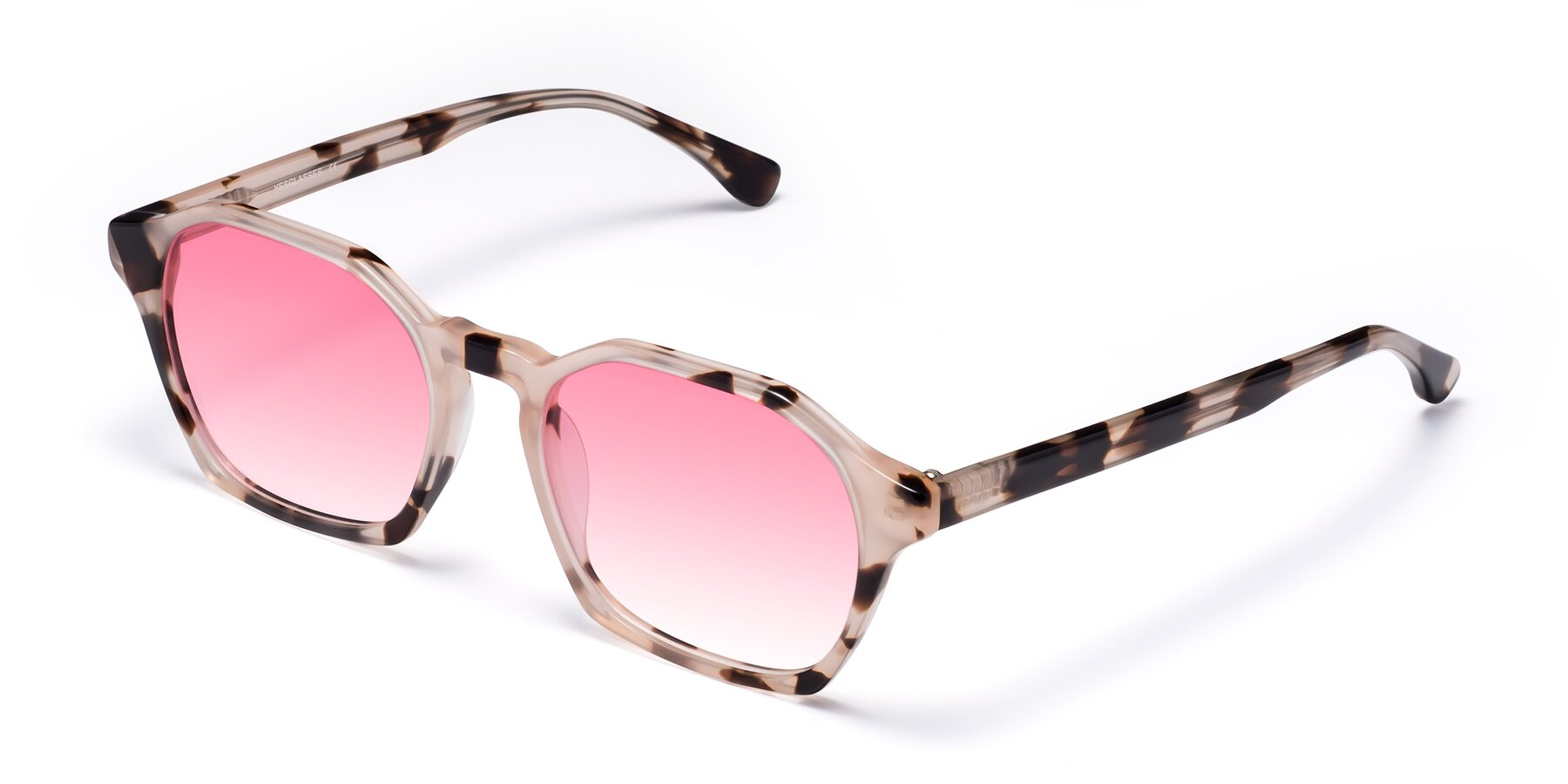 Angle of Stoltz in Leopard with Pink Gradient Lenses