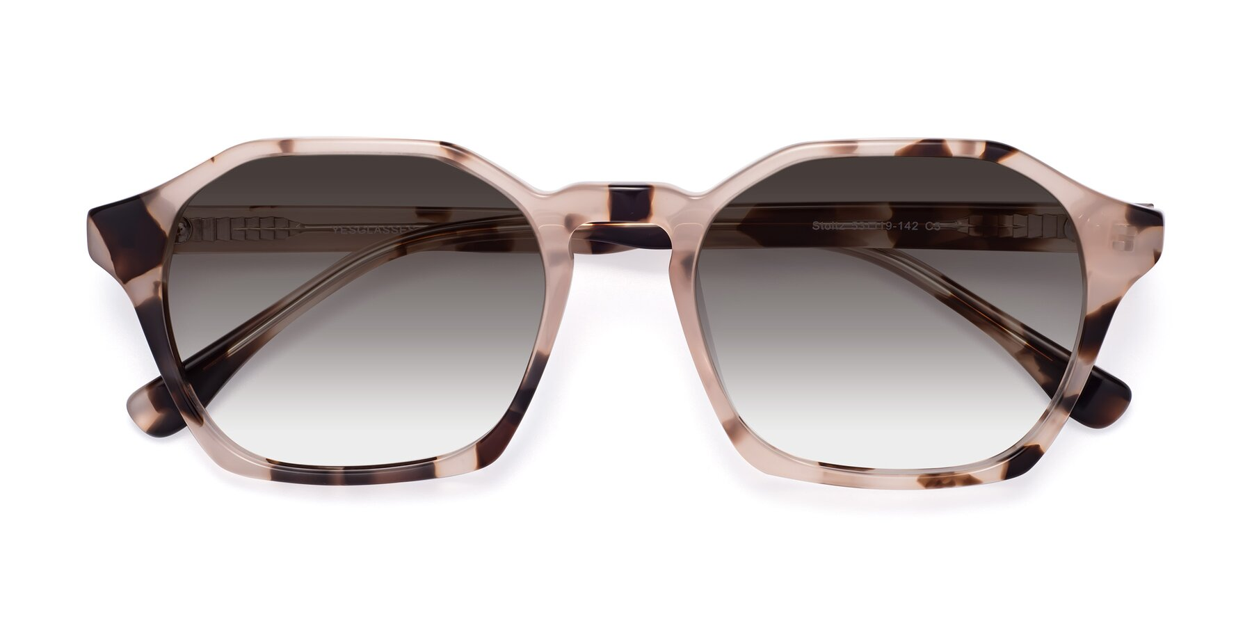 Folded Front of Stoltz in Leopard with Gray Gradient Lenses