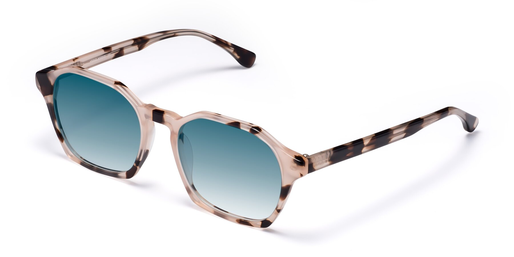 Angle of Stoltz in Leopard with Blue Gradient Lenses