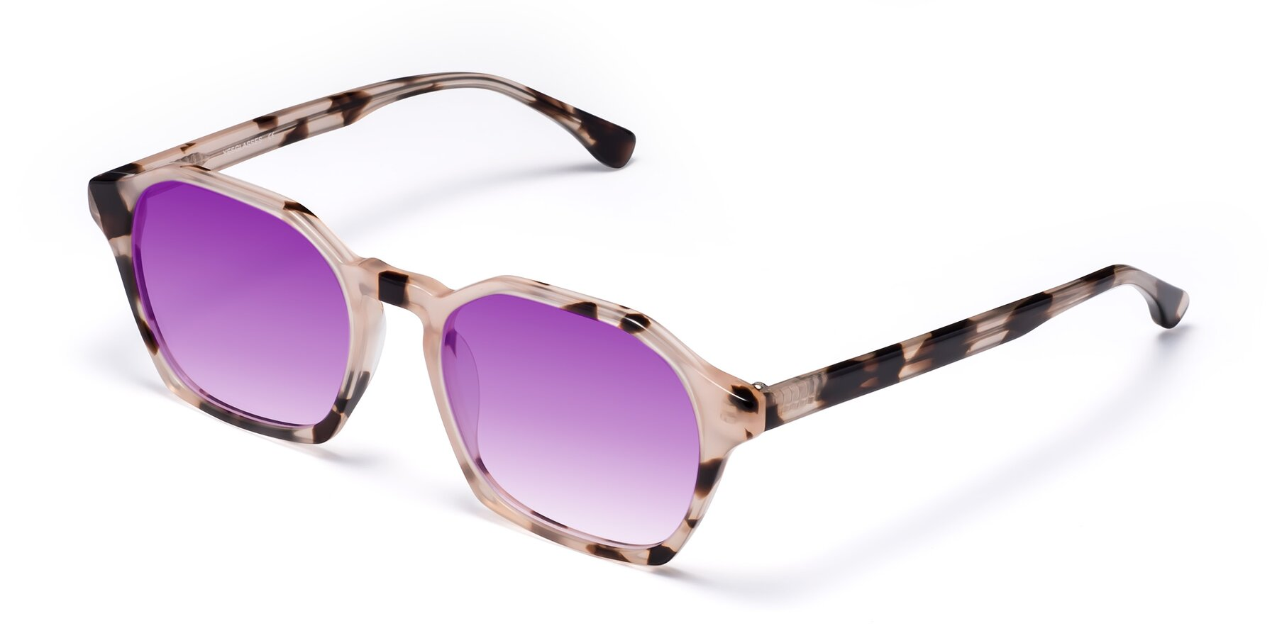 Angle of Stoltz in Leopard with Purple Gradient Lenses