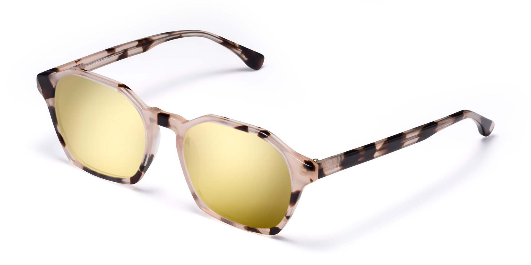 Angle of Stoltz in Leopard with Gold Mirrored Lenses