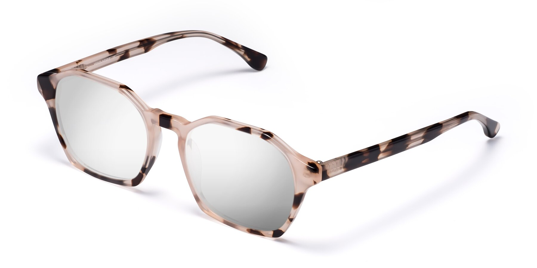 Angle of Stoltz in Leopard with Silver Mirrored Lenses