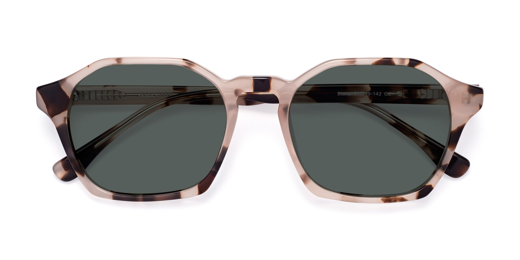 Folded Front of Stoltz in Leopard with Gray Polarized Lenses
