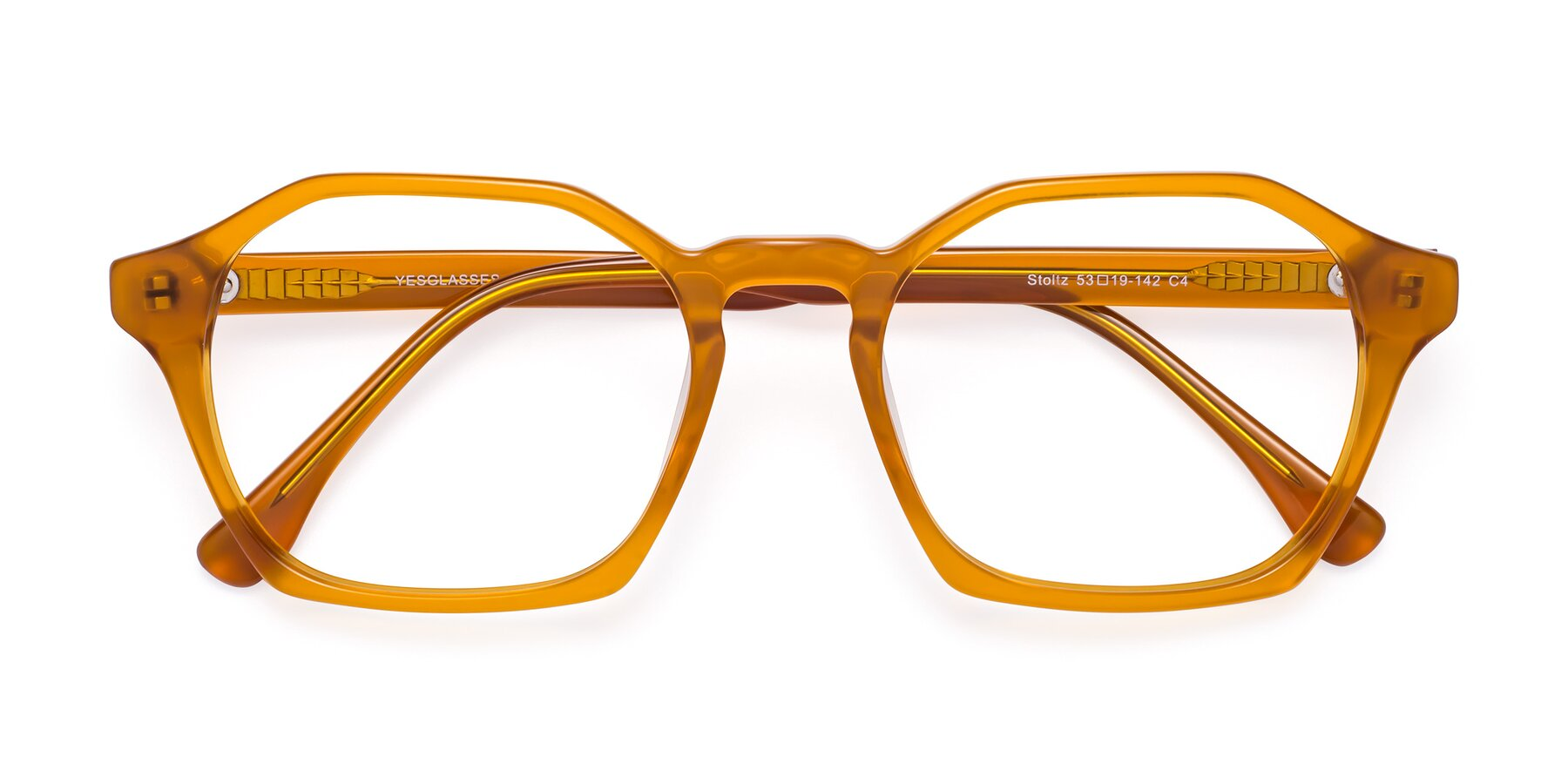 Folded Front of Stoltz in Brown with Clear Blue Light Blocking Lenses