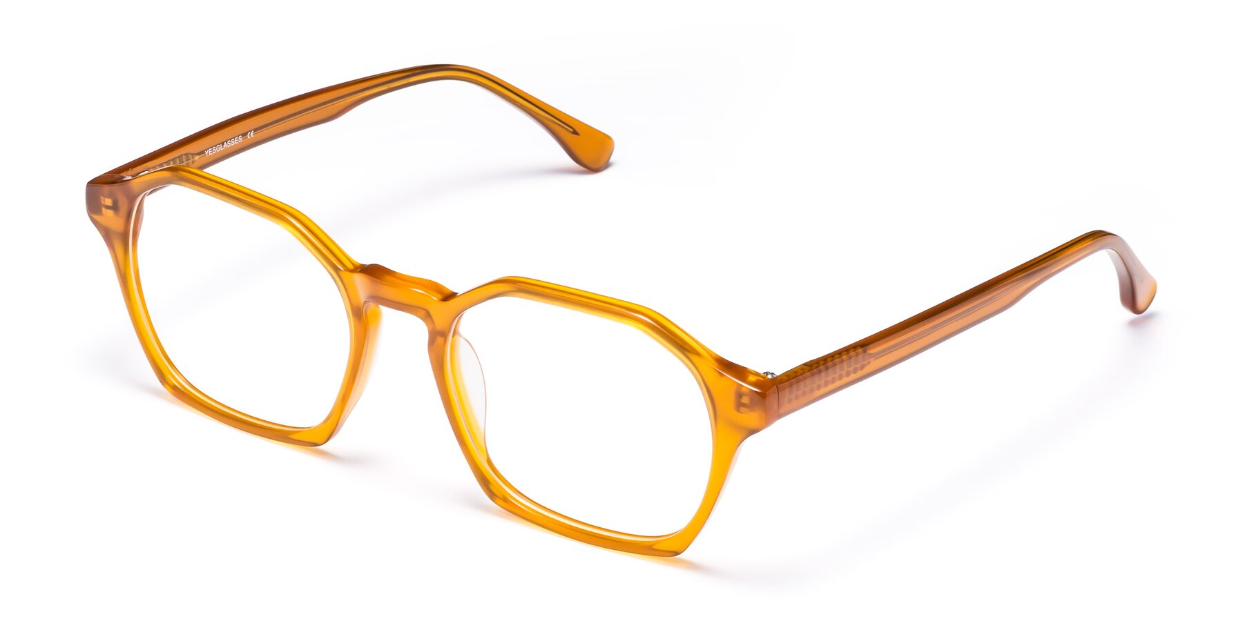 Angle of Stoltz in Brown with Clear Blue Light Blocking Lenses
