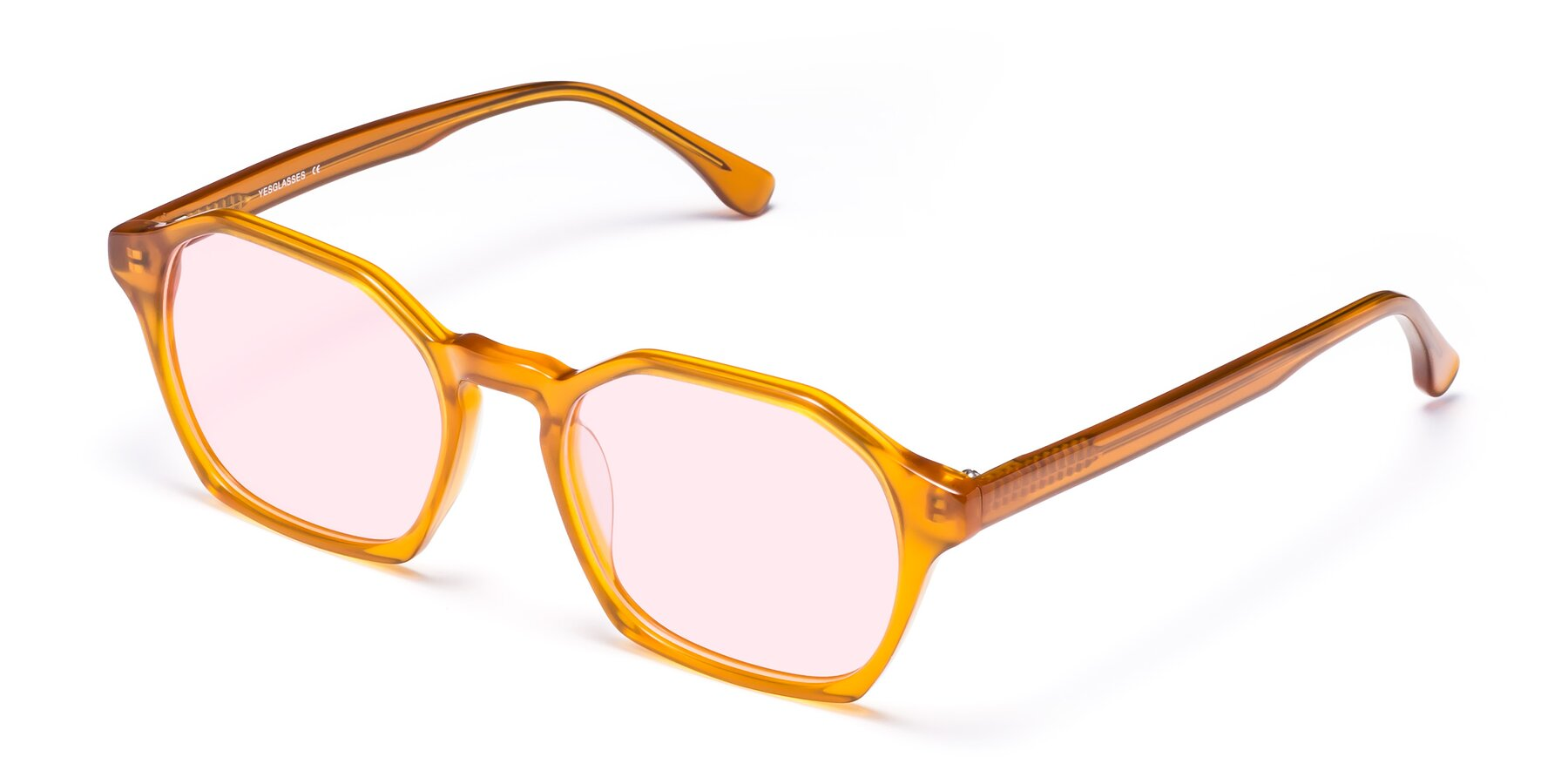 Angle of Stoltz in Brown with Light Pink Tinted Lenses