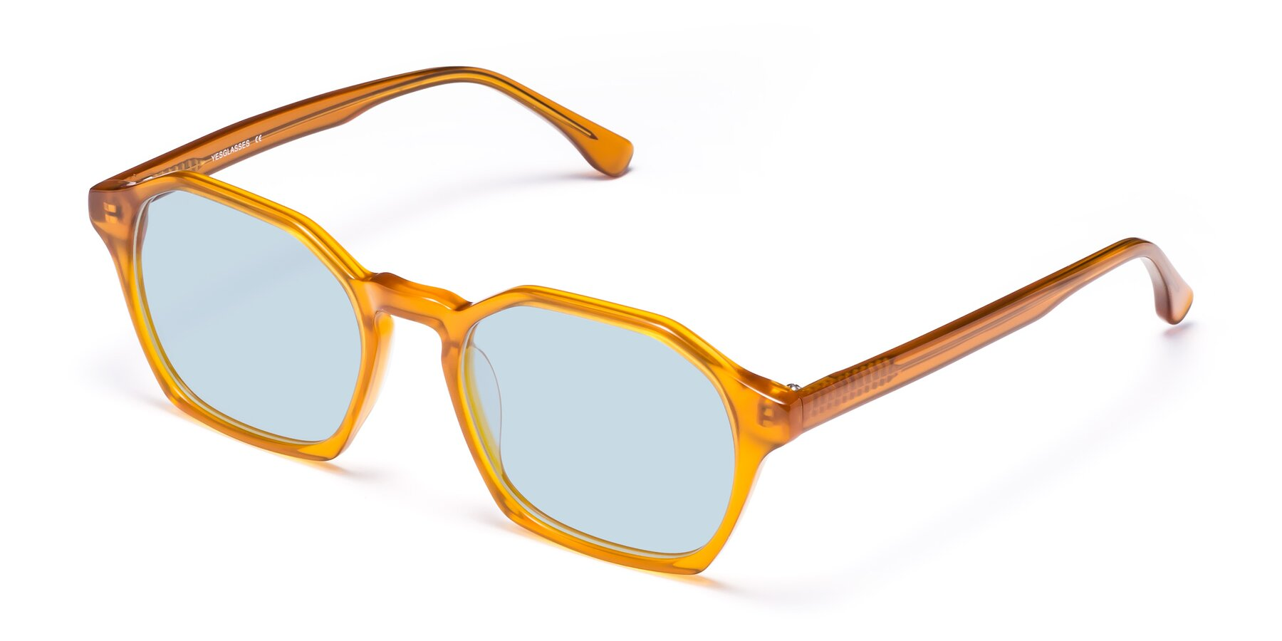 Angle of Stoltz in Brown with Light Blue Tinted Lenses