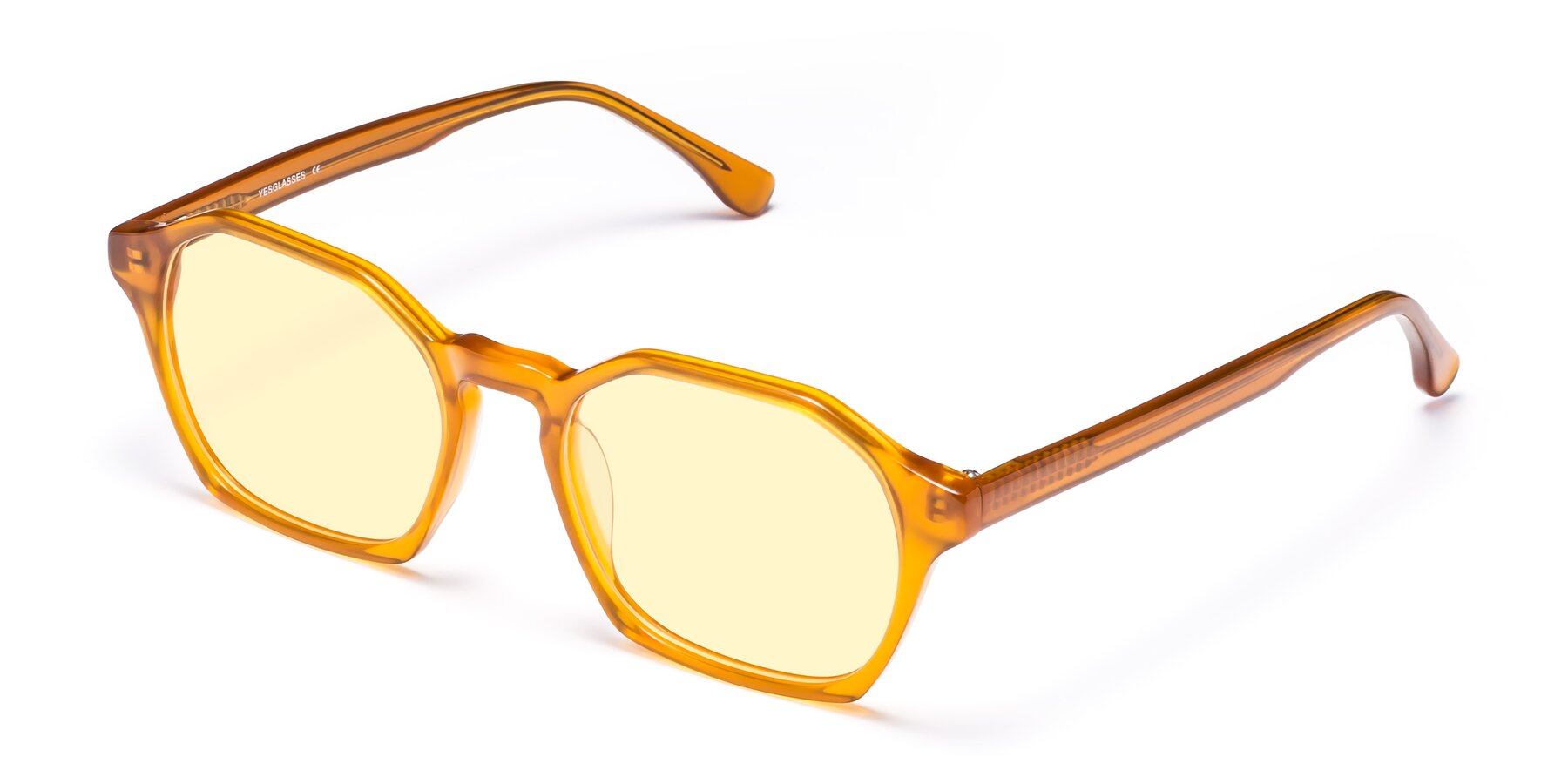 Angle of Stoltz in Brown with Light Yellow Tinted Lenses