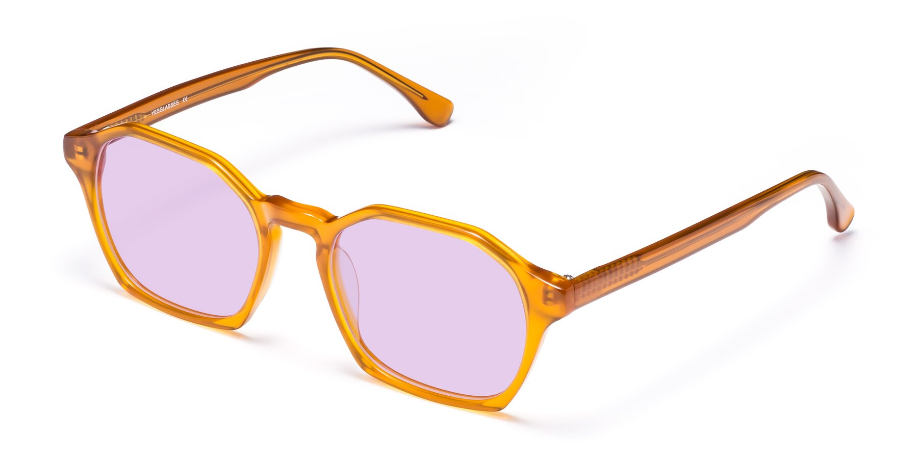 Angle of Stoltz in Brown with Light Purple Tinted Lenses