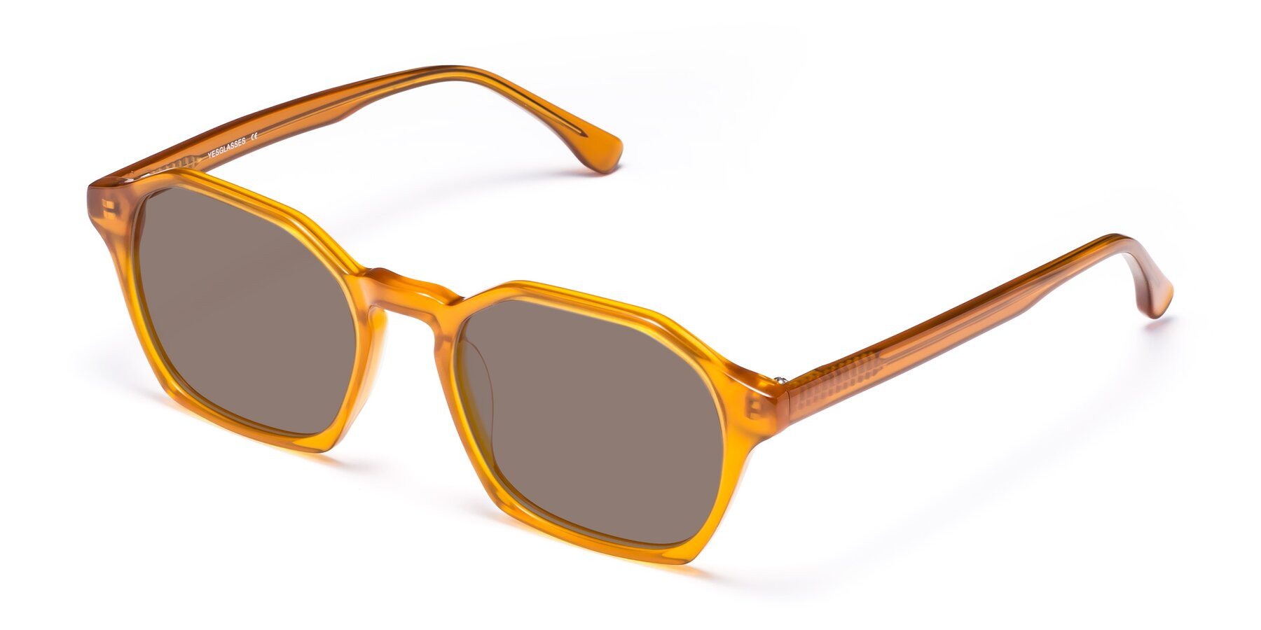 Angle of Stoltz in Brown with Medium Brown Tinted Lenses