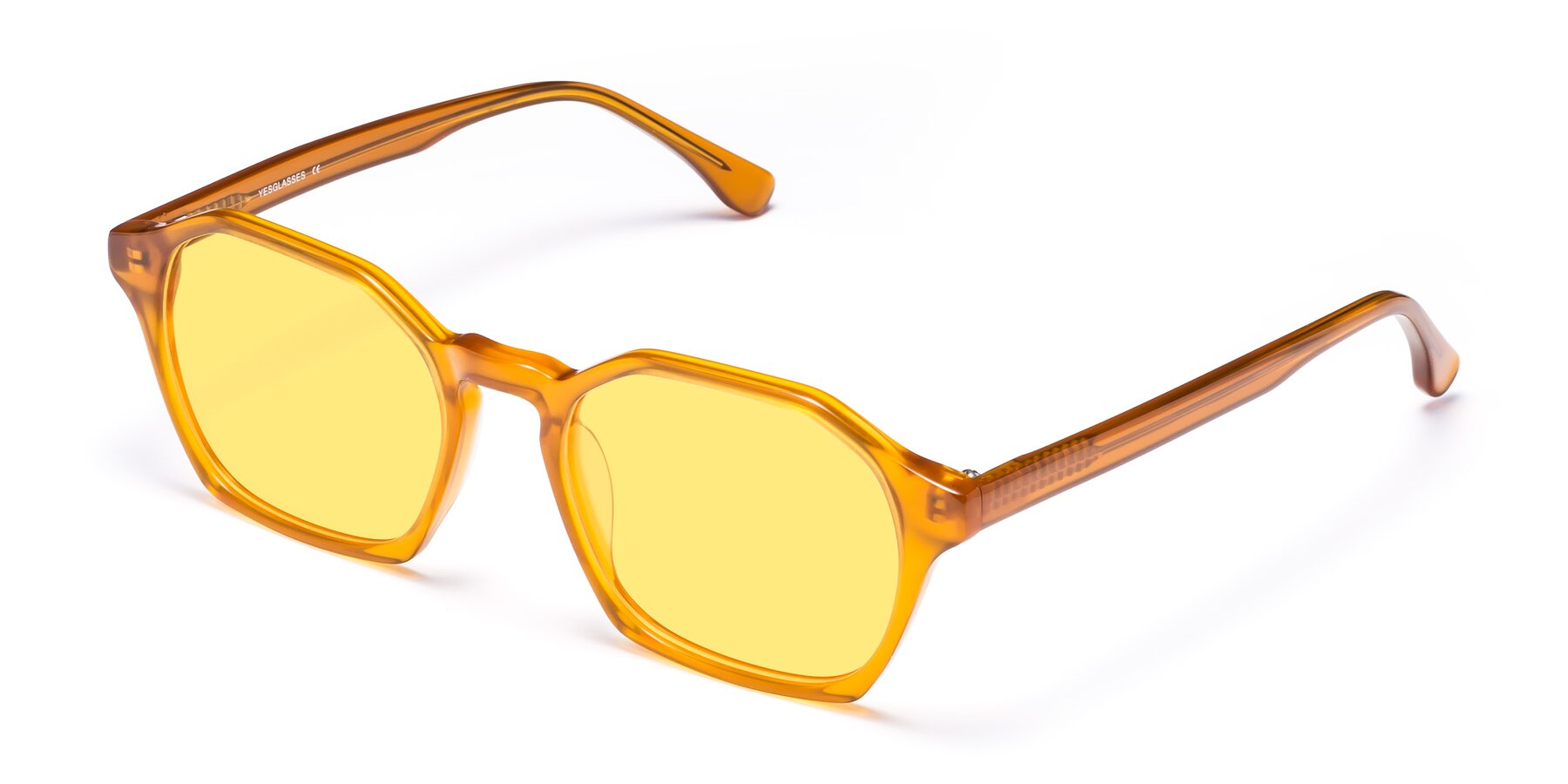 Angle of Stoltz in Brown with Medium Yellow Tinted Lenses