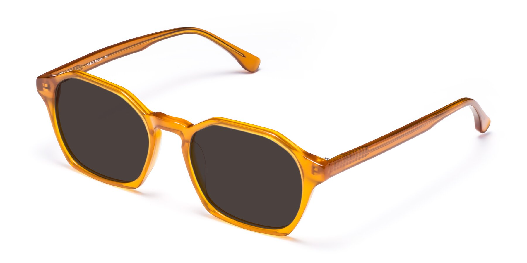 Angle of Stoltz in Brown with Gray Tinted Lenses
