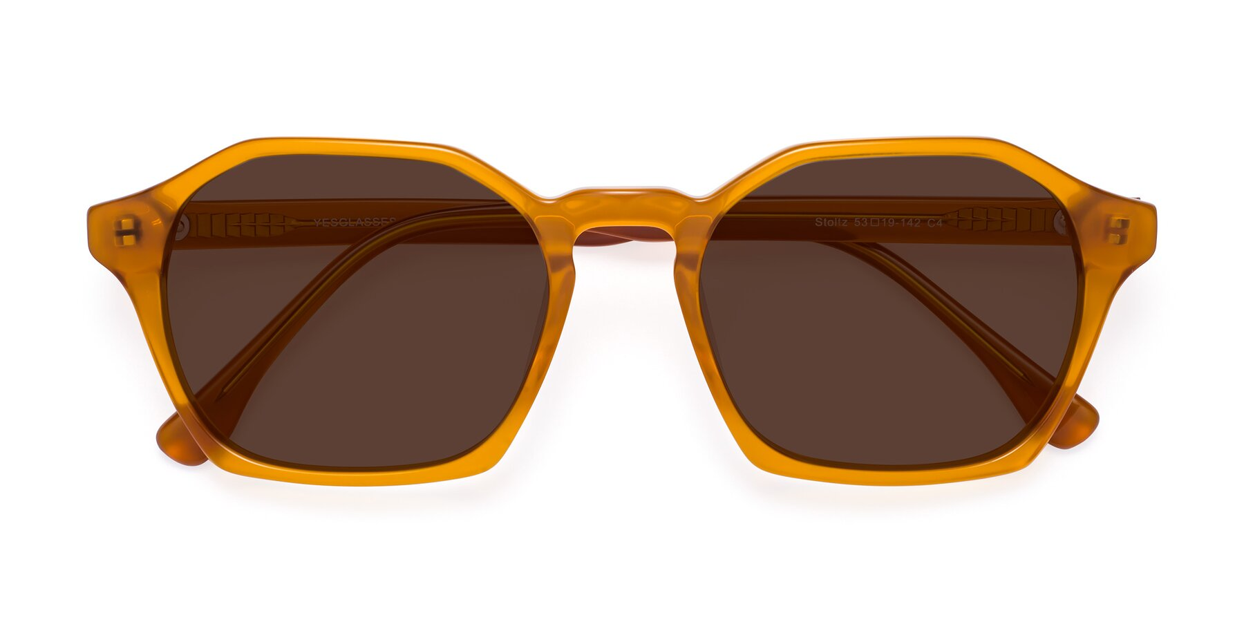 Folded Front of Stoltz in Brown with Brown Tinted Lenses