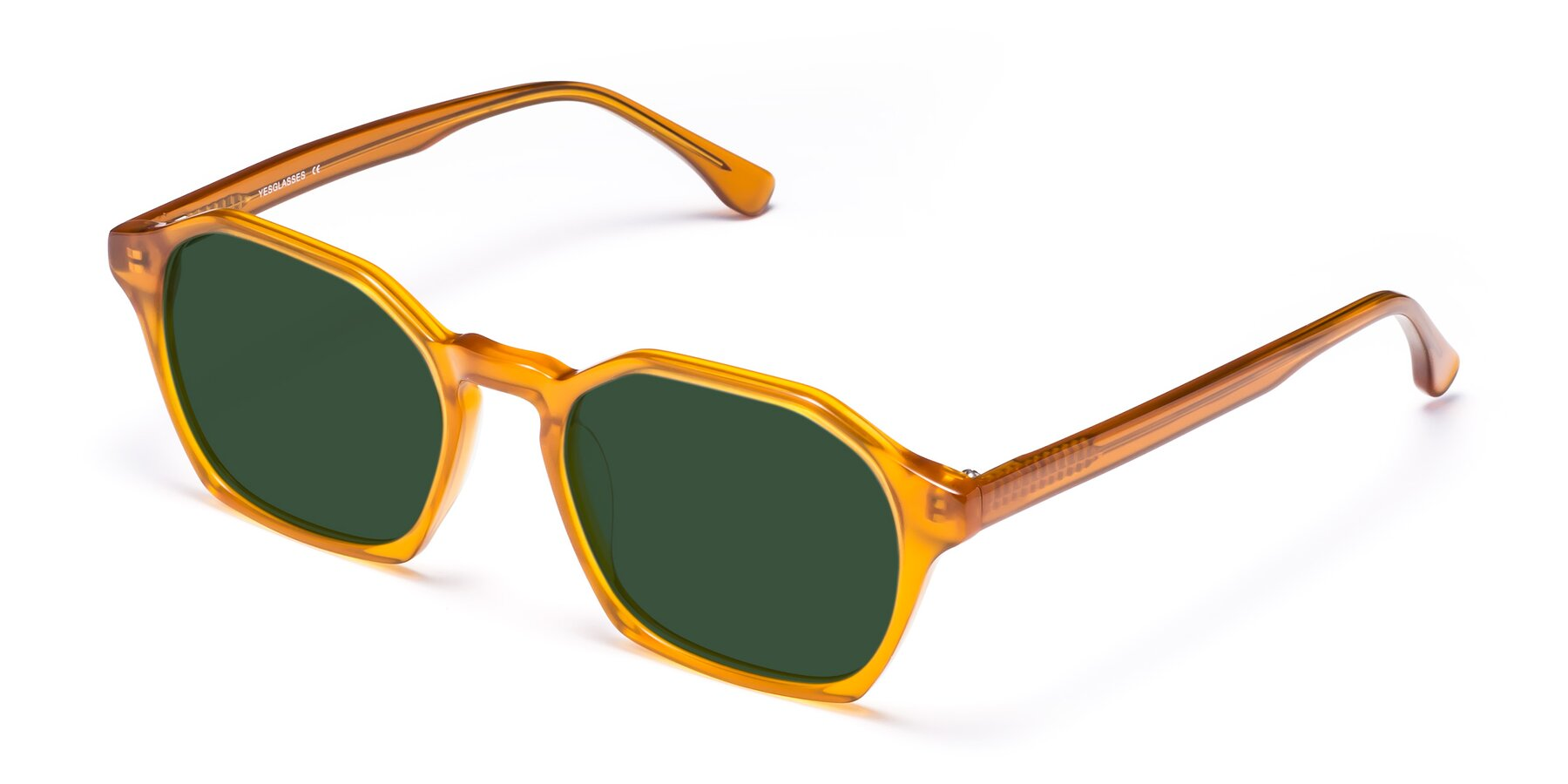 Angle of Stoltz in Brown with Green Tinted Lenses