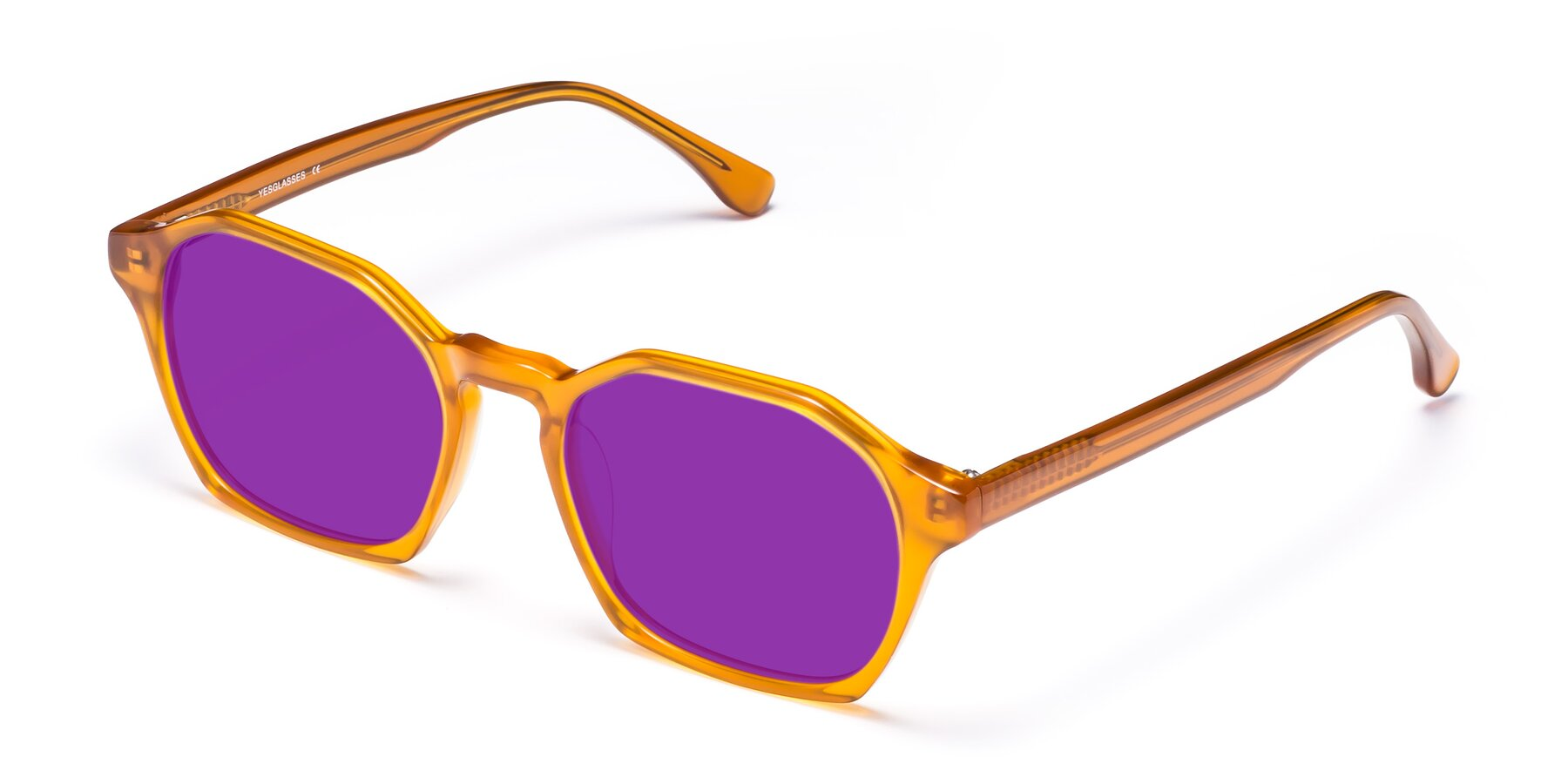 Angle of Stoltz in Brown with Purple Tinted Lenses