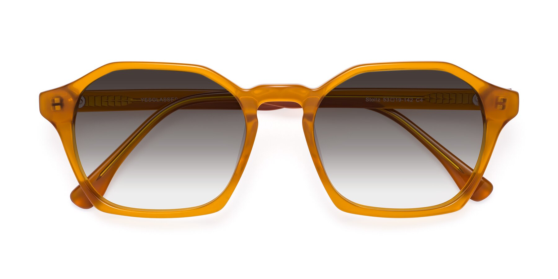 Folded Front of Stoltz in Brown with Gray Gradient Lenses
