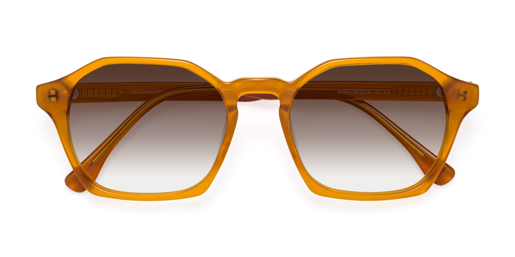 Folded Front of Stoltz in Brown with Brown Gradient Lenses