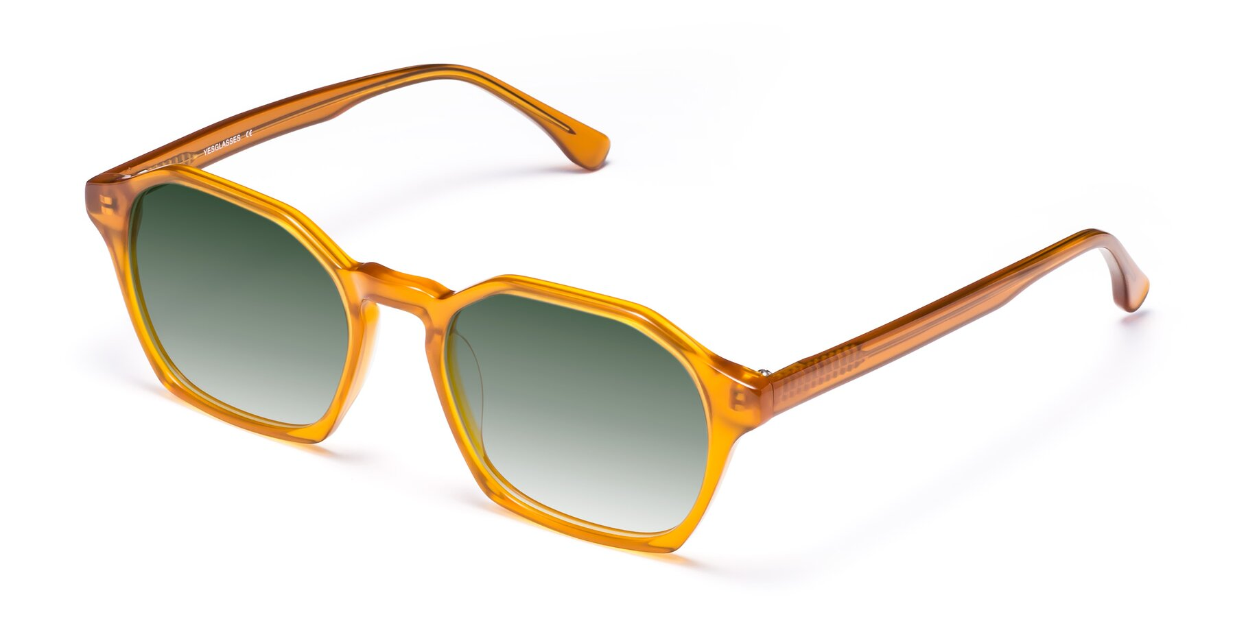 Angle of Stoltz in Brown with Green Gradient Lenses