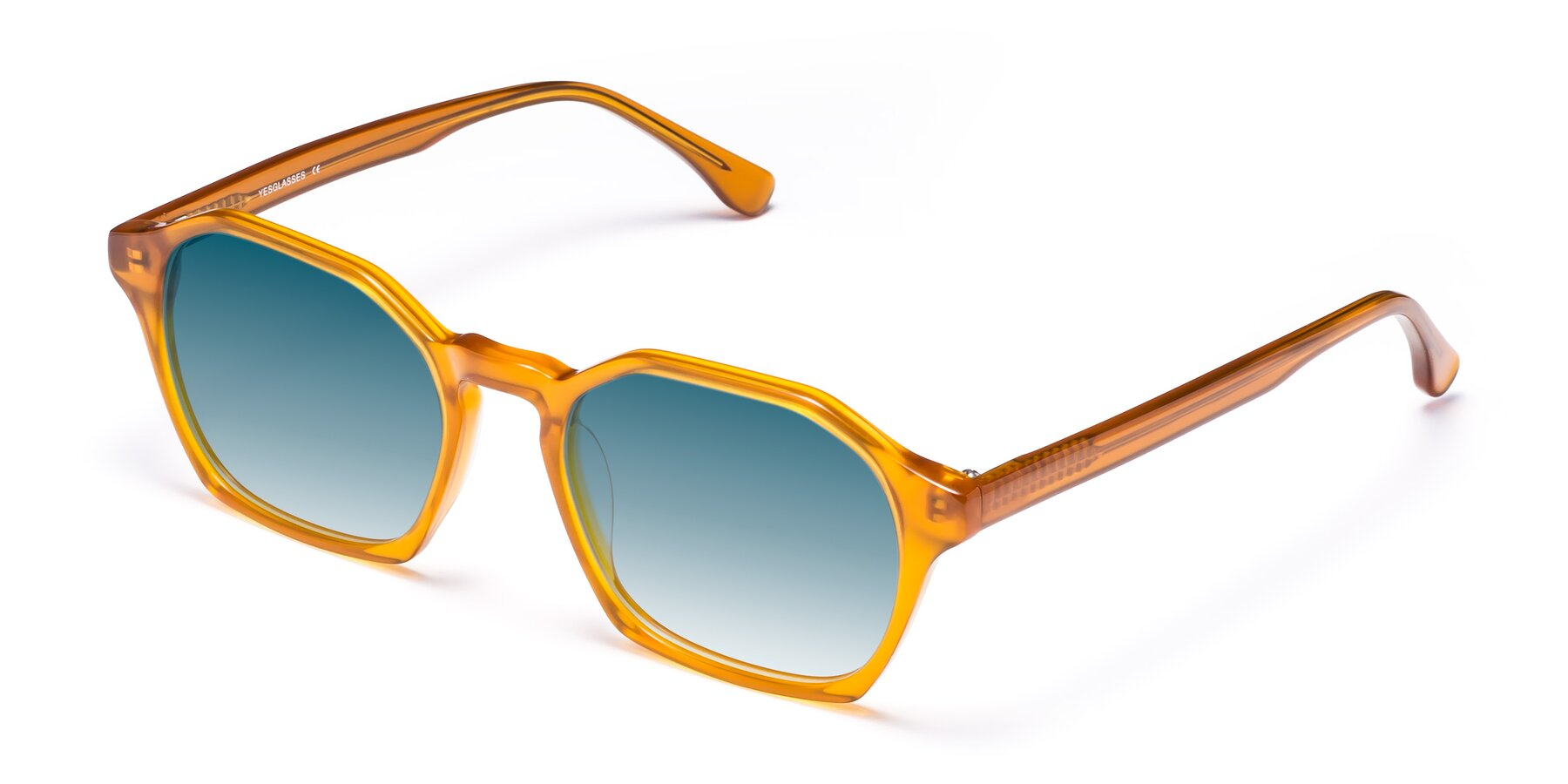 Angle of Stoltz in Brown with Blue Gradient Lenses
