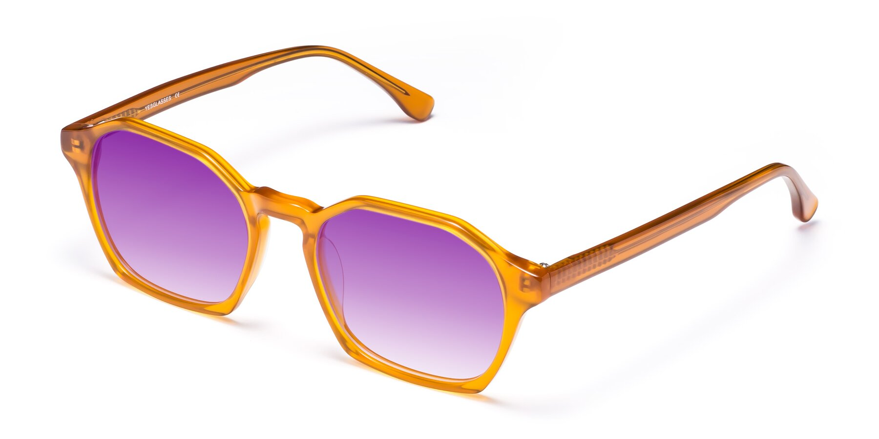 Angle of Stoltz in Brown with Purple Gradient Lenses
