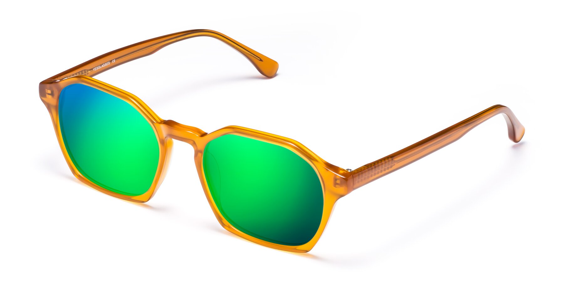 Angle of Stoltz in Brown with Green Mirrored Lenses