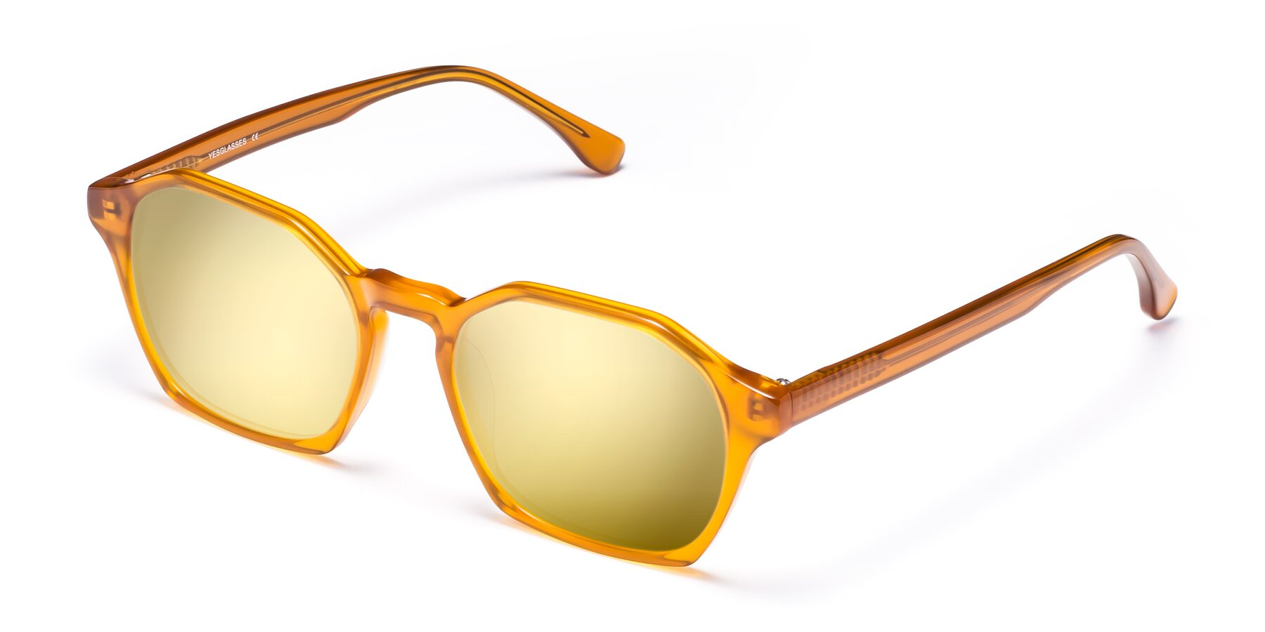 Angle of Stoltz in Brown with Gold Mirrored Lenses