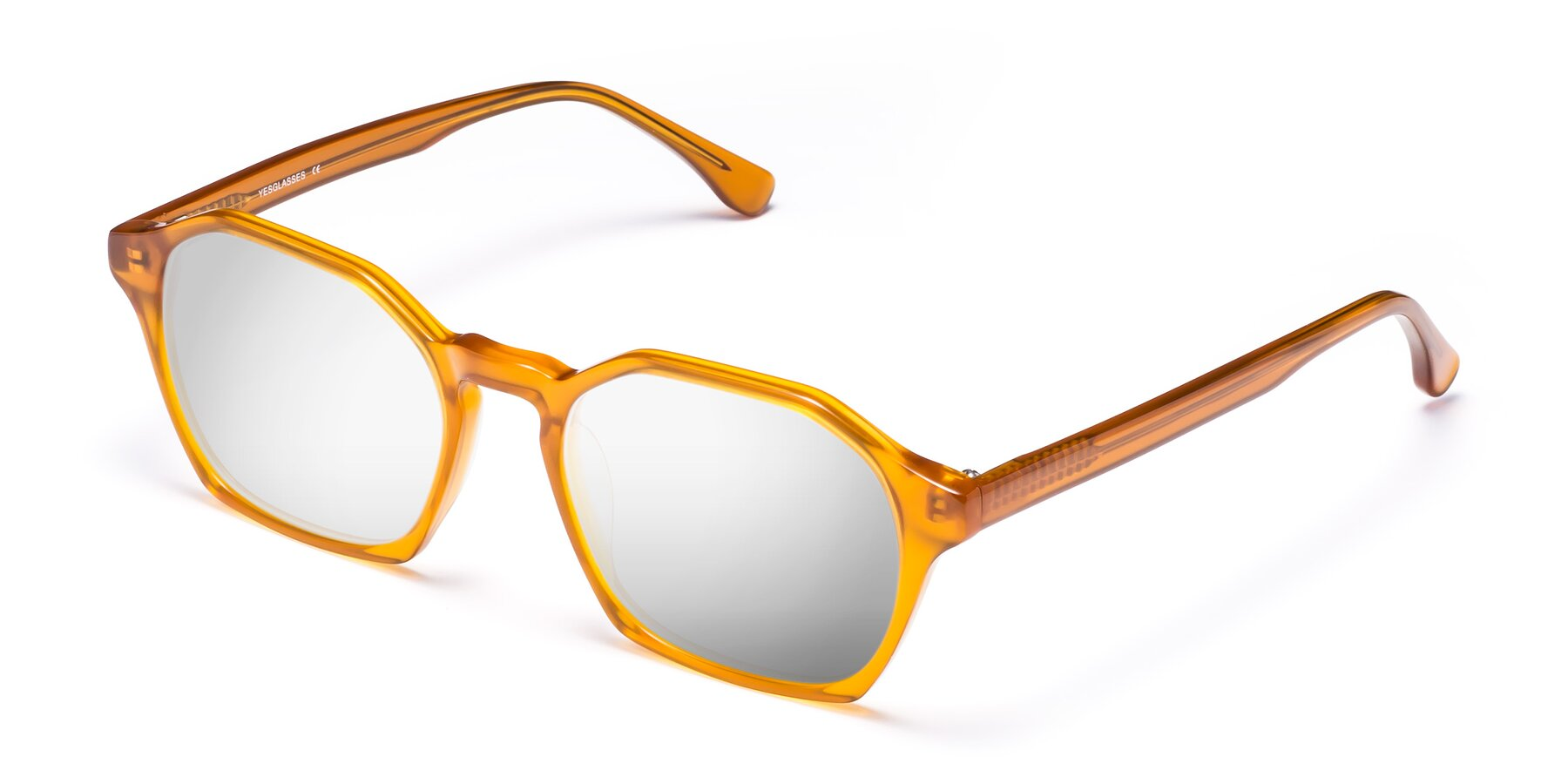 Angle of Stoltz in Brown with Silver Mirrored Lenses