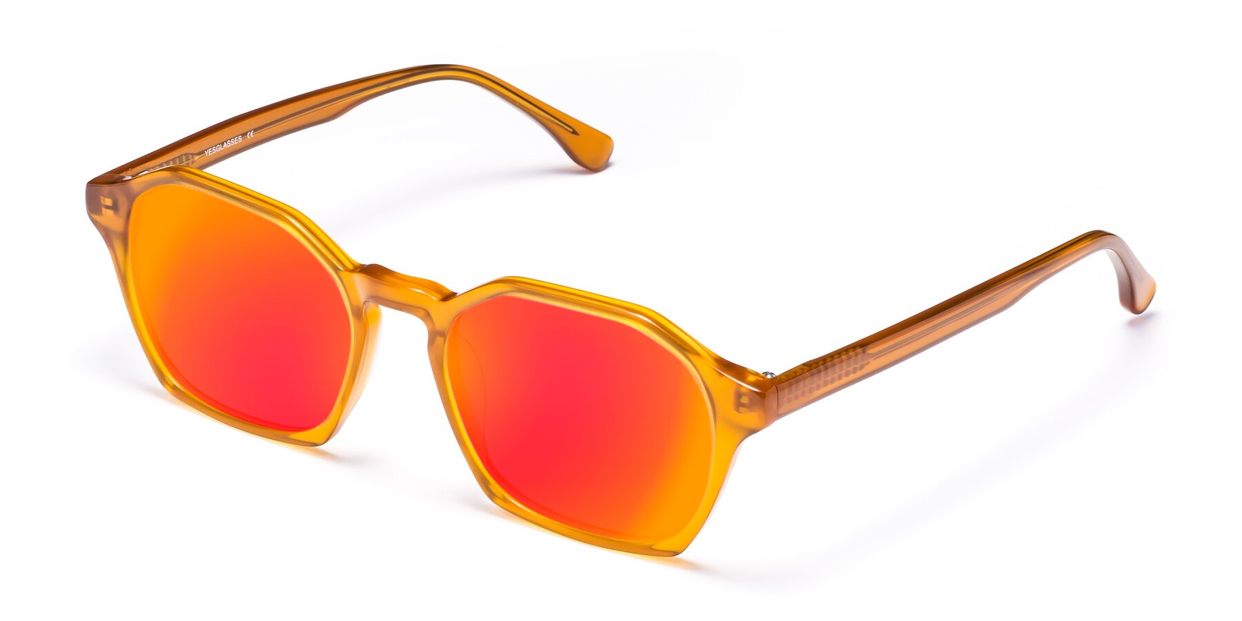 Angle of Stoltz in Brown with Red Gold Mirrored Lenses