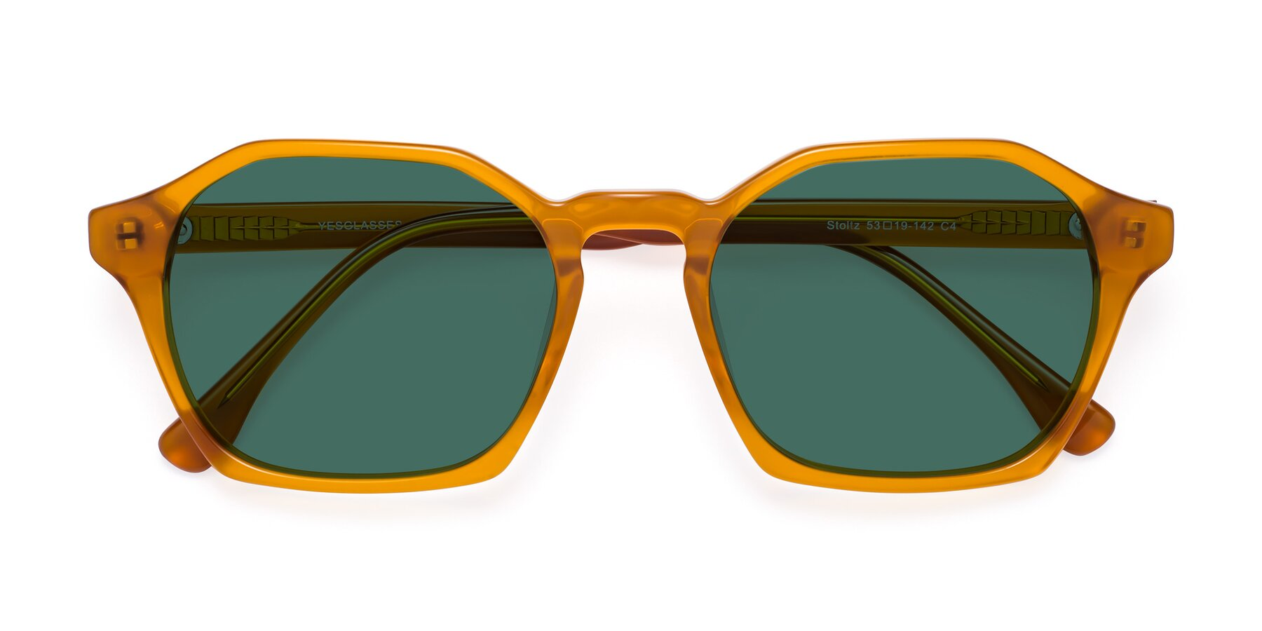 Folded Front of Stoltz in Brown with Green Polarized Lenses