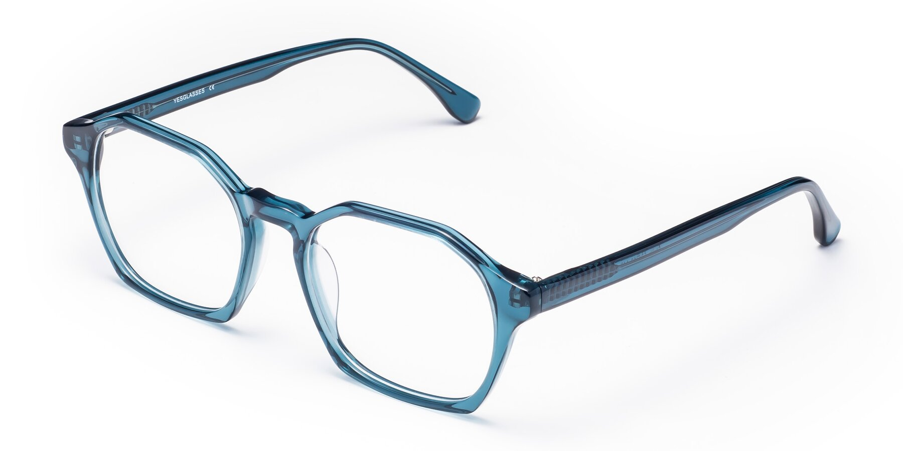 Angle of Stoltz in Ink Blue with Clear Eyeglass Lenses