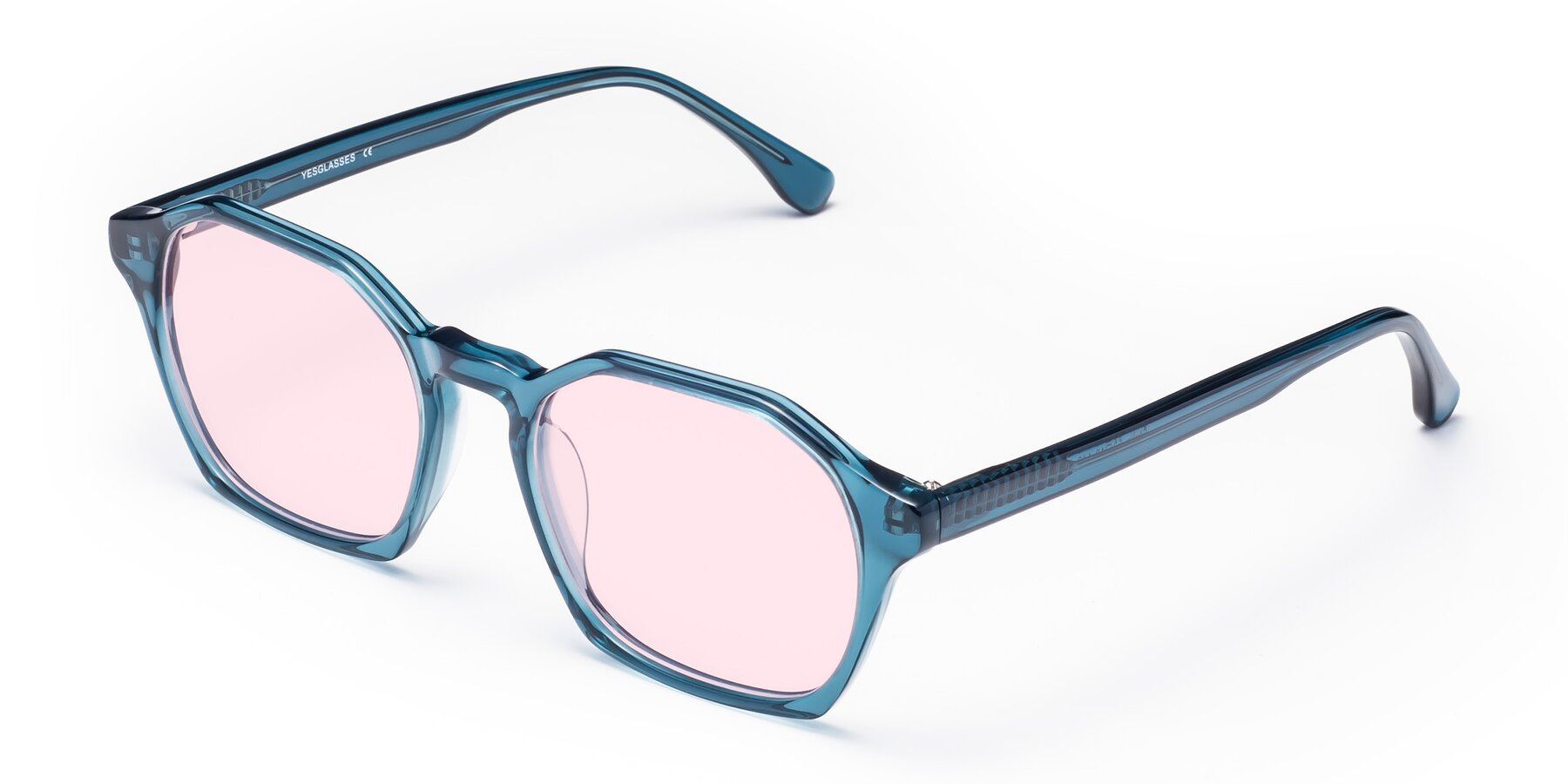 Angle of Stoltz in Ink Blue with Light Pink Tinted Lenses