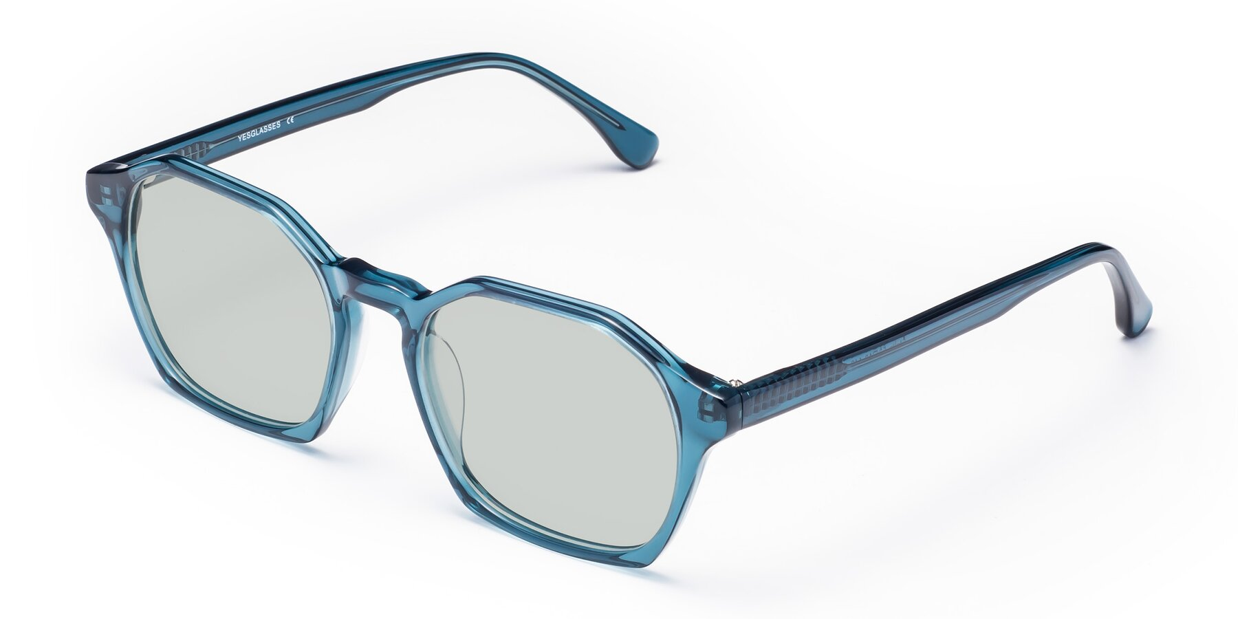 Angle of Stoltz in Ink Blue with Light Green Tinted Lenses