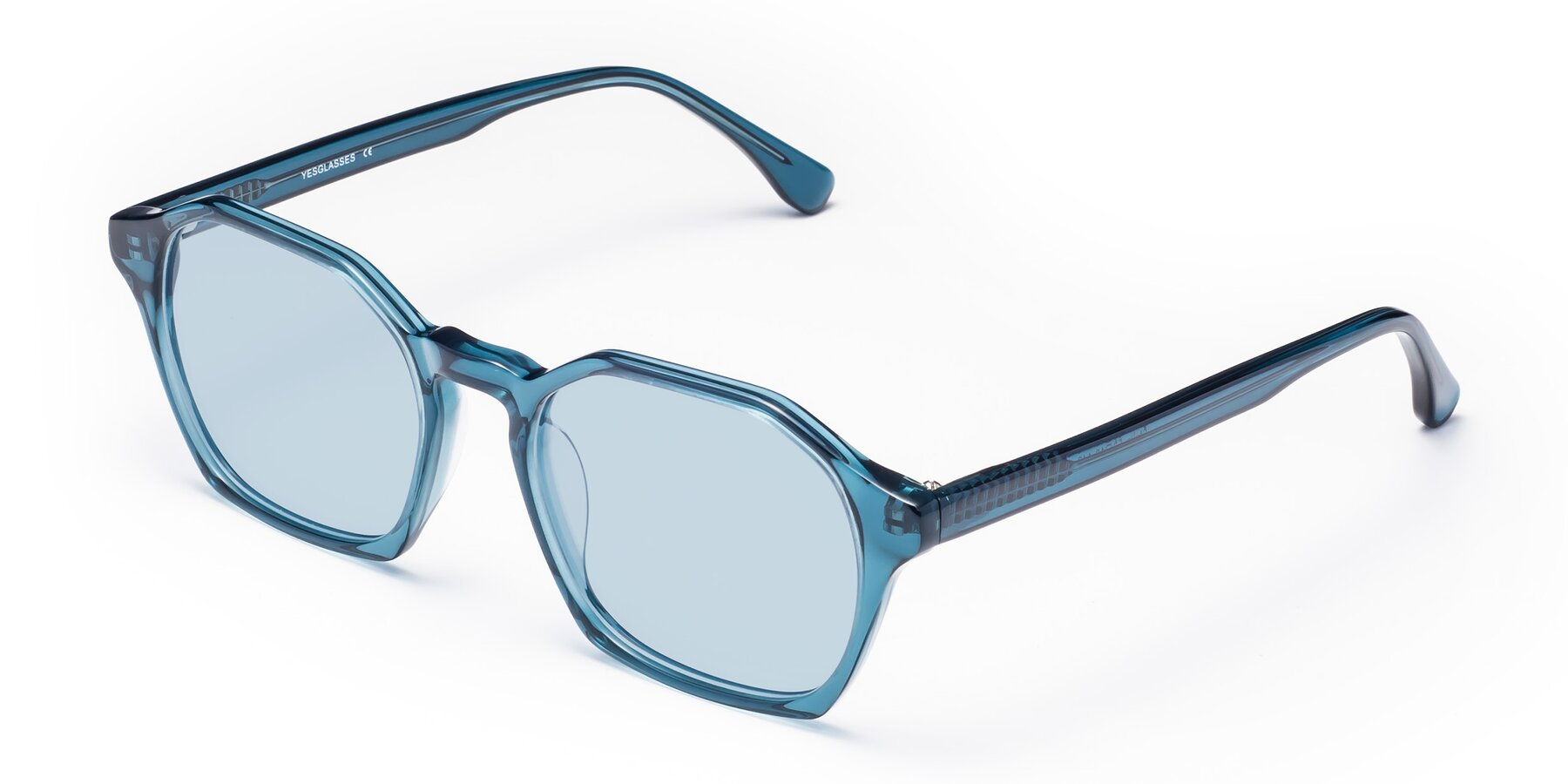 Angle of Stoltz in Ink Blue with Light Blue Tinted Lenses