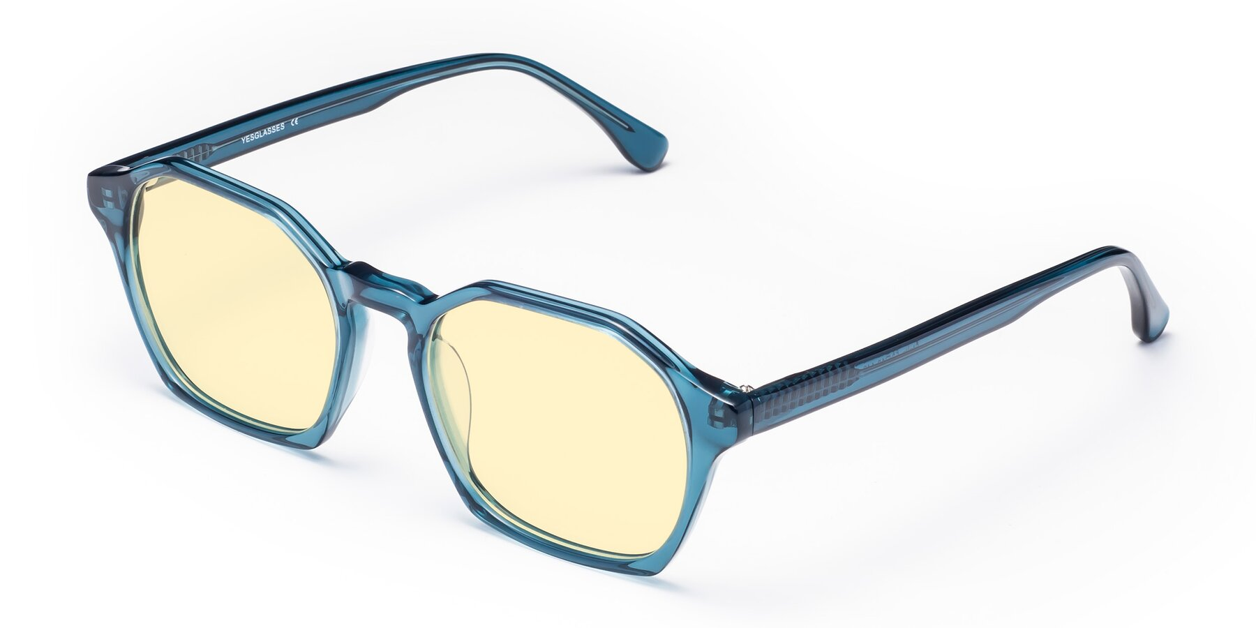 Angle of Stoltz in Ink Blue with Light Yellow Tinted Lenses