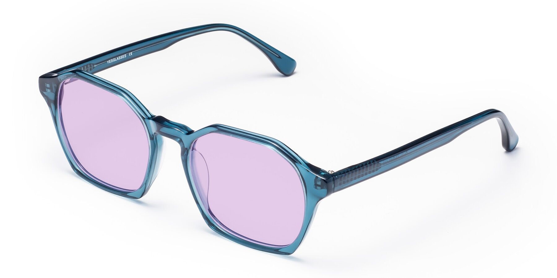Angle of Stoltz in Ink Blue with Light Purple Tinted Lenses