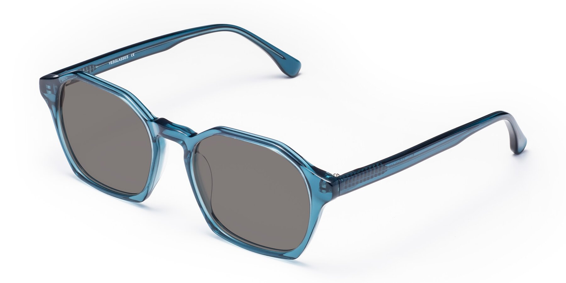 Angle of Stoltz in Ink Blue with Medium Gray Tinted Lenses