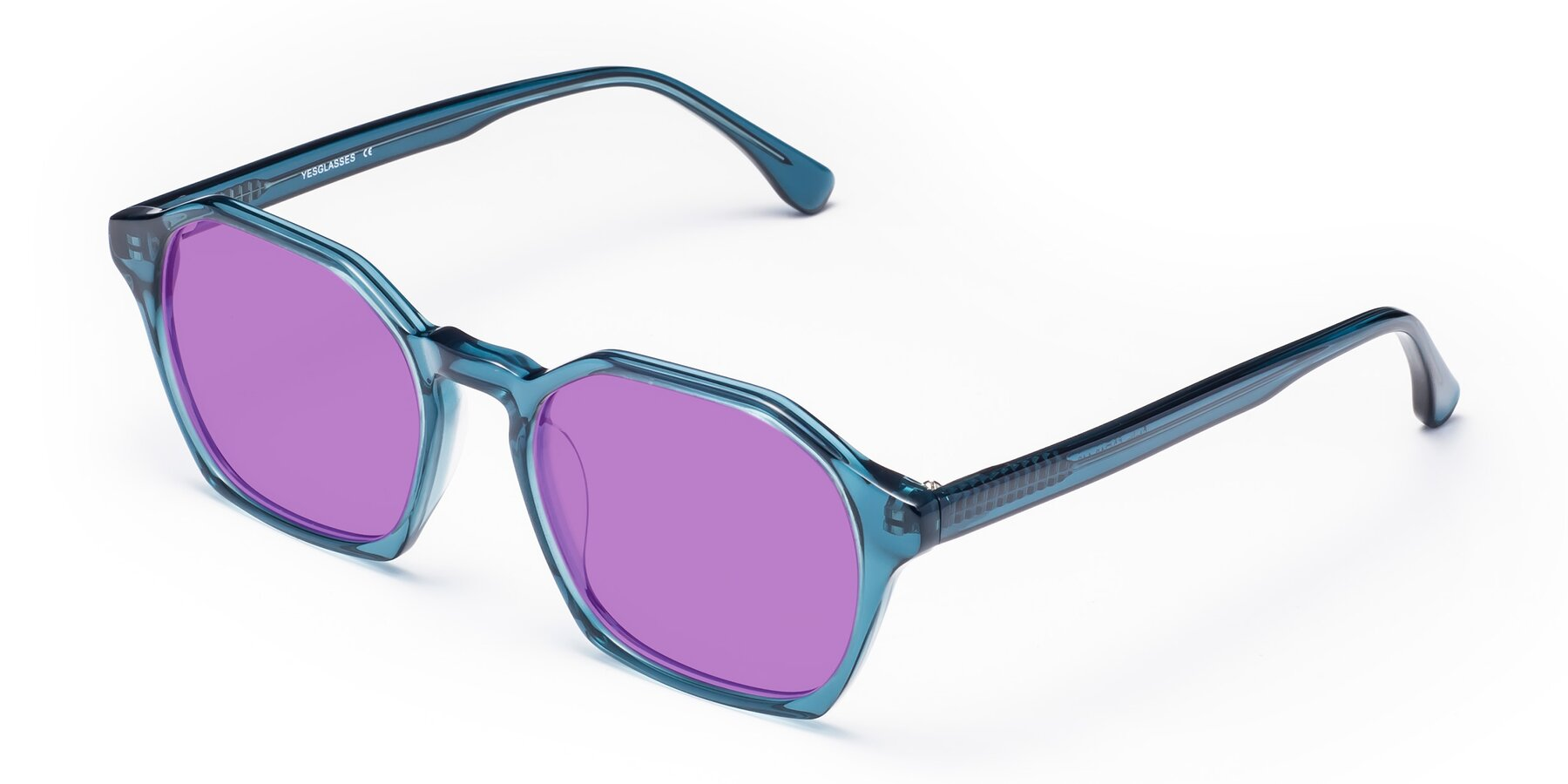 Angle of Stoltz in Ink Blue with Medium Purple Tinted Lenses