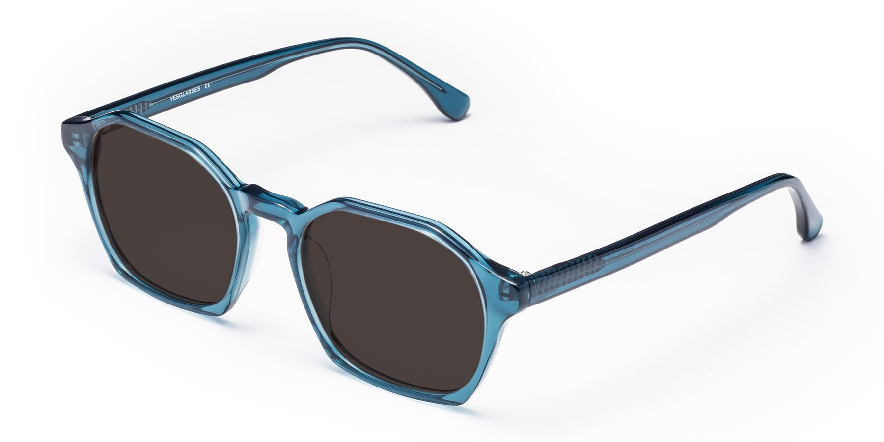 Angle of Stoltz in Ink Blue with Gray Tinted Lenses