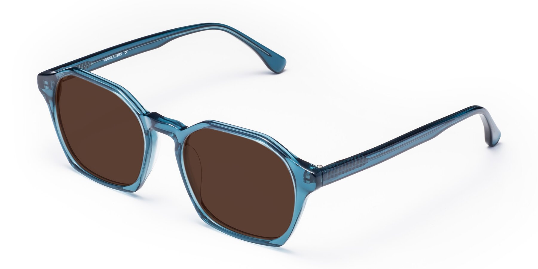 Angle of Stoltz in Ink Blue with Brown Tinted Lenses